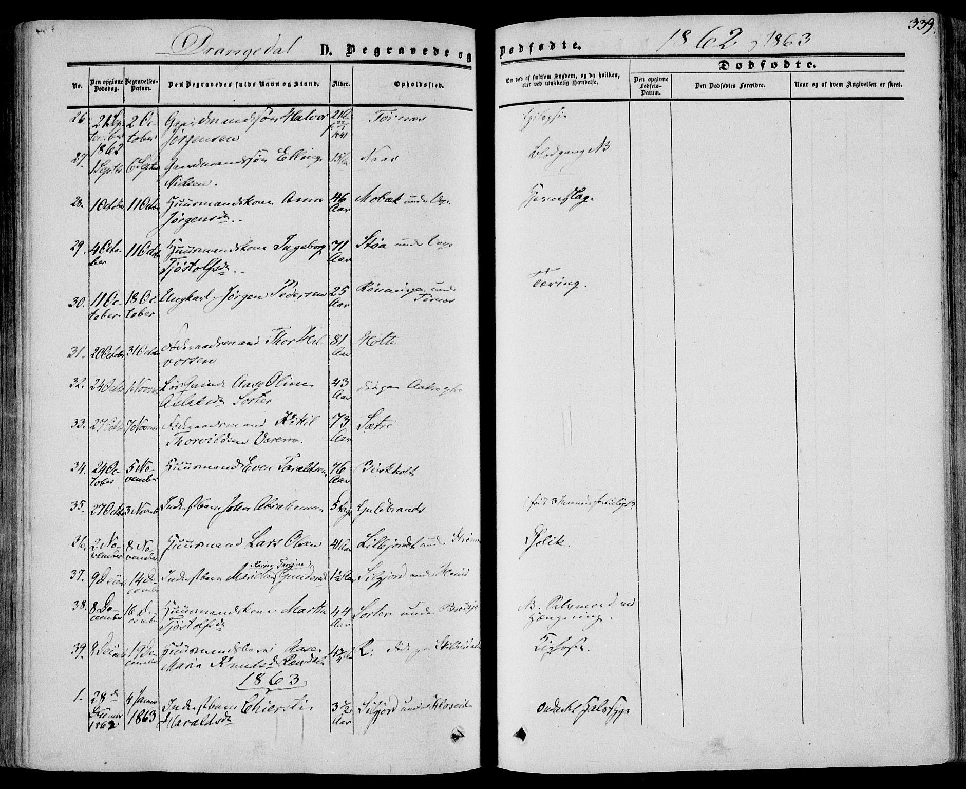 SAKO, Drangedal kirkebøker, F/Fa/L0008: Ministerialbok nr. 8, 1857-1871, s. 339