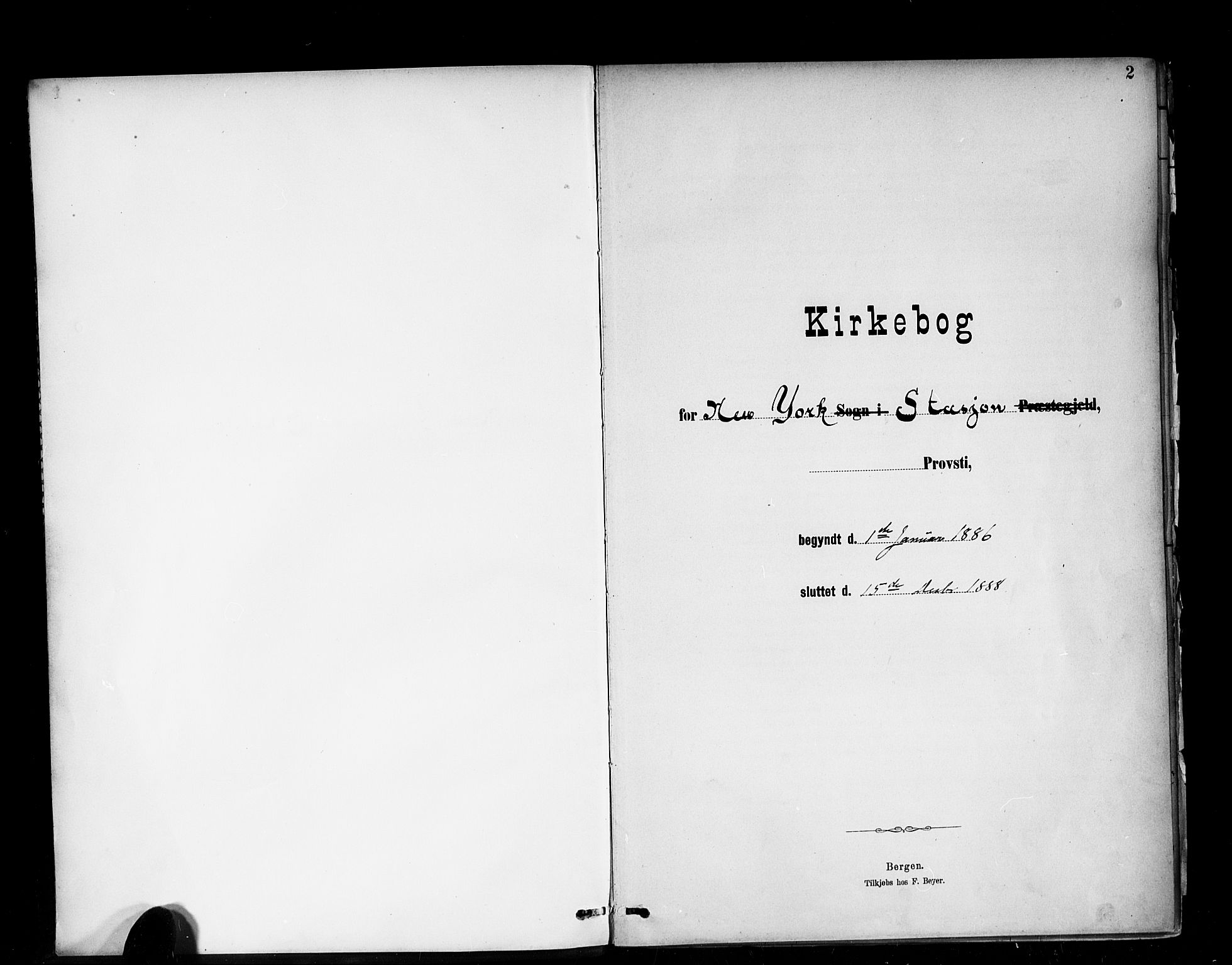 SAB, Den Norske Sjømannsmisjon i utlandet*, Ministerialbok nr. A 2, 1886-1888, s. 2
