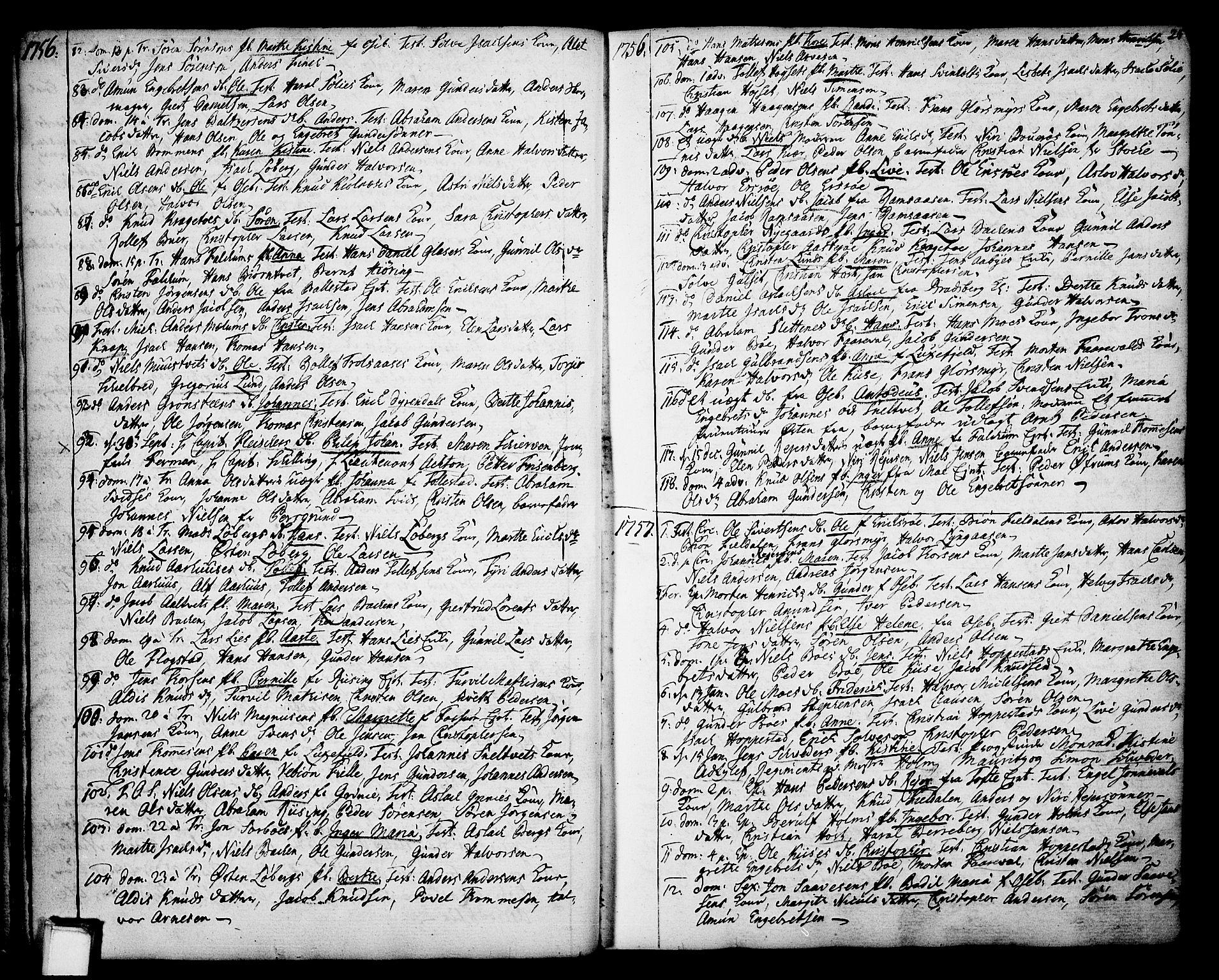 SAKO, Gjerpen kirkebøker, F/Fa/L0002: Ministerialbok nr. 2, 1747-1795, s. 25