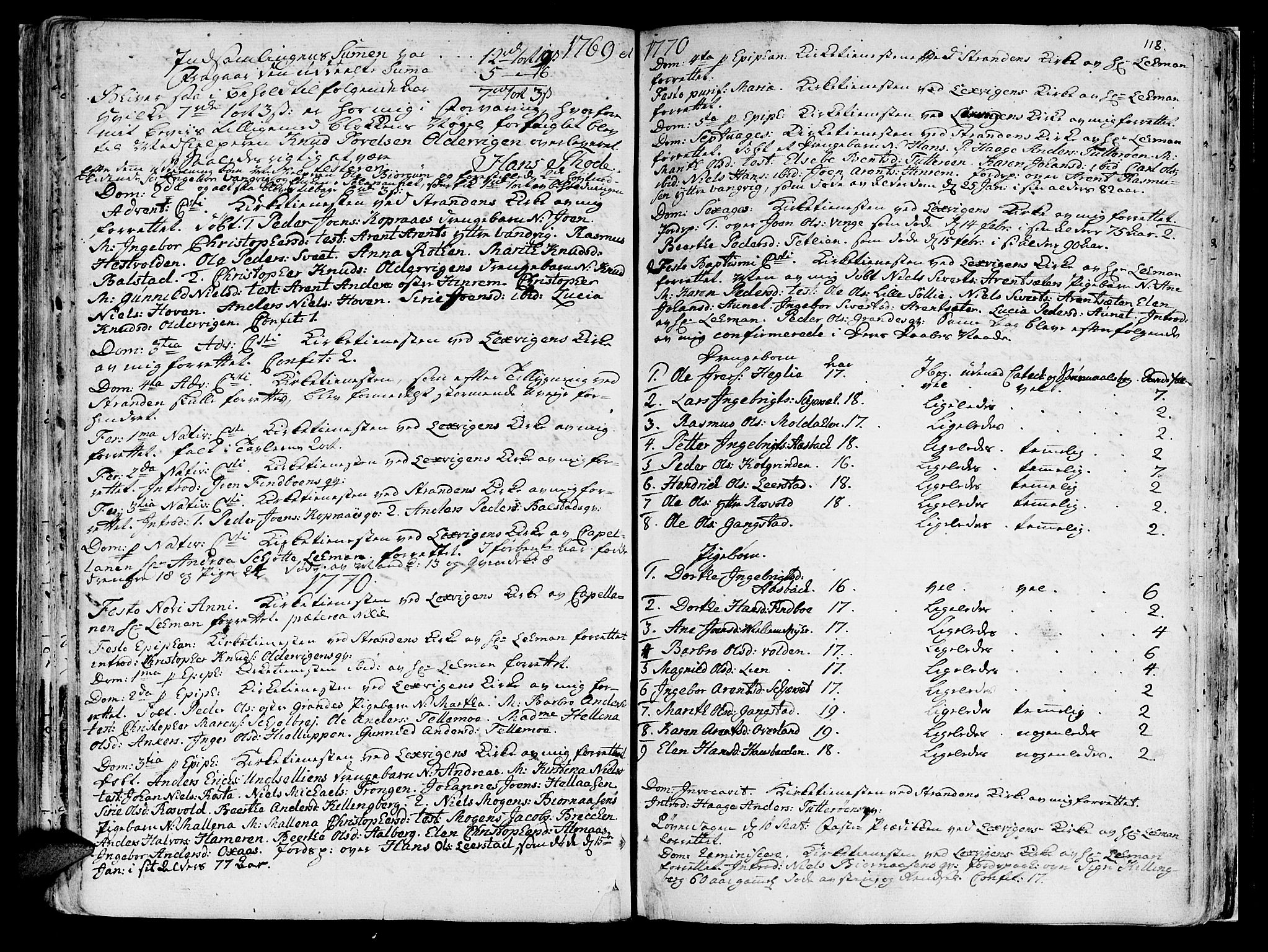 SAT, Ministerialprotokoller, klokkerbøker og fødselsregistre - Nord-Trøndelag, 701/L0003: Ministerialbok nr. 701A03, 1751-1783, s. 118