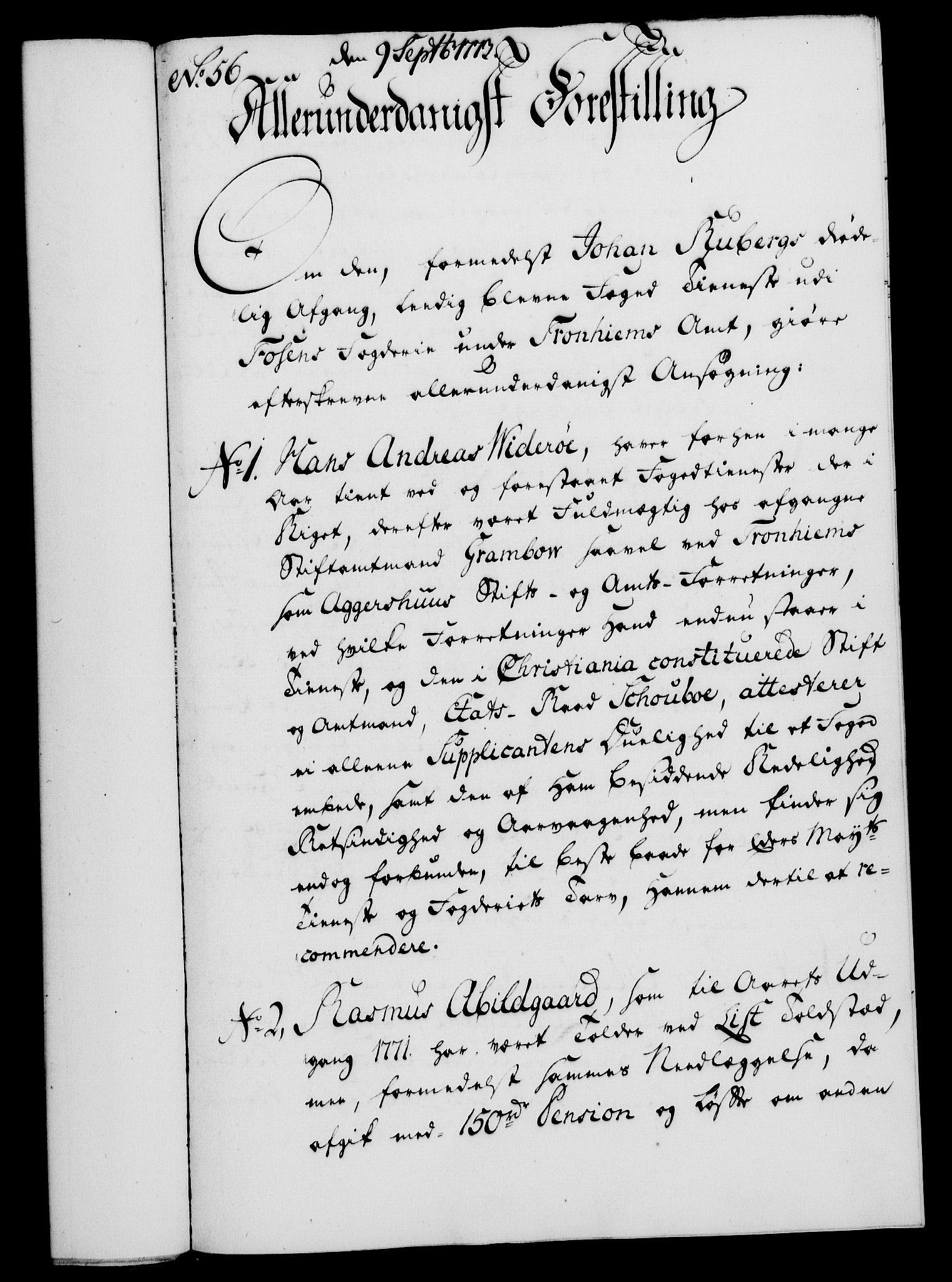 RA, Rentekammeret, Kammerkanselliet, G/Gf/Gfa/L0055: Norsk relasjons- og resolusjonsprotokoll (merket RK 52.55), 1773, s. 214