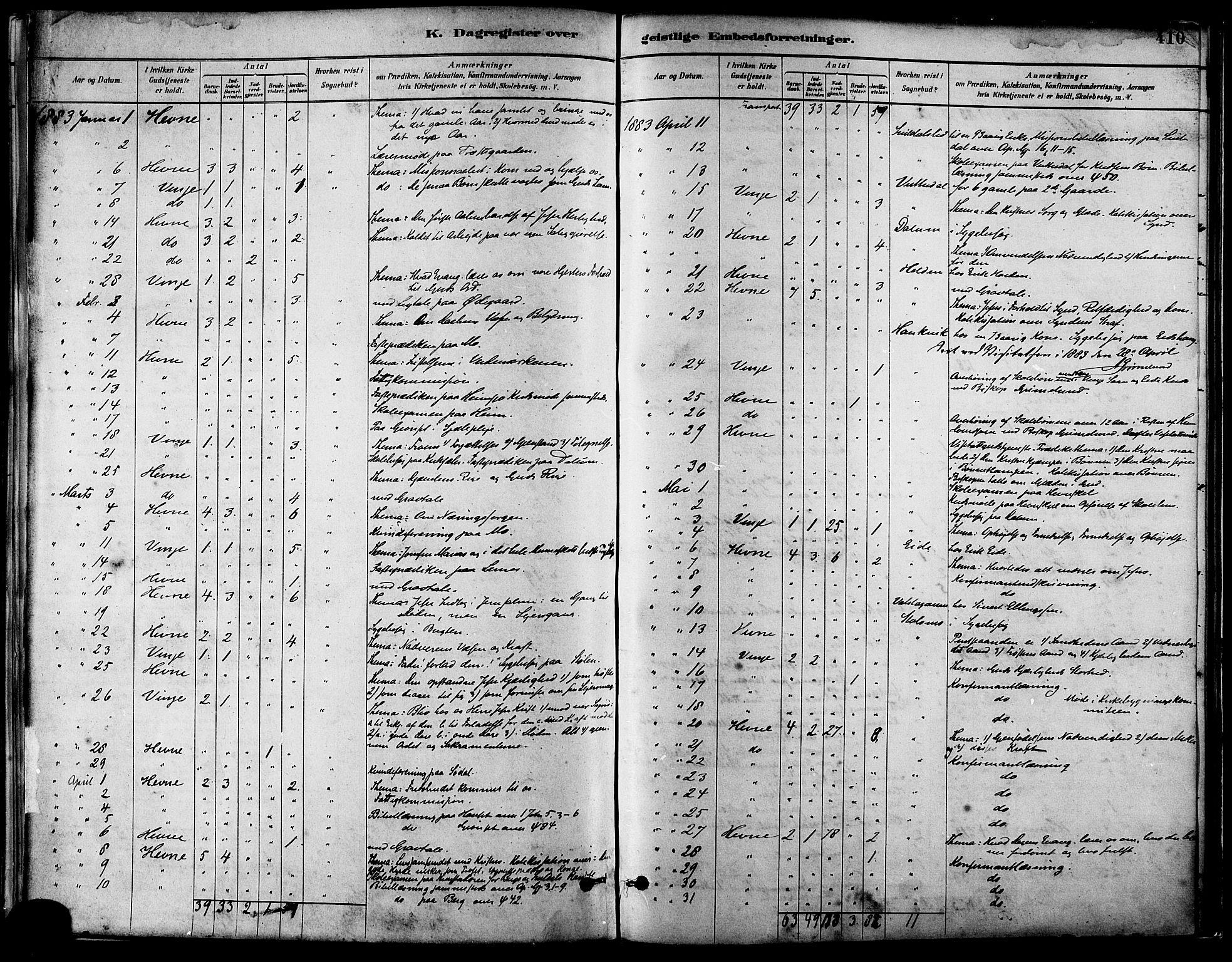 SAT, Ministerialprotokoller, klokkerbøker og fødselsregistre - Sør-Trøndelag, 630/L0496: Ministerialbok nr. 630A09, 1879-1895, s. 410