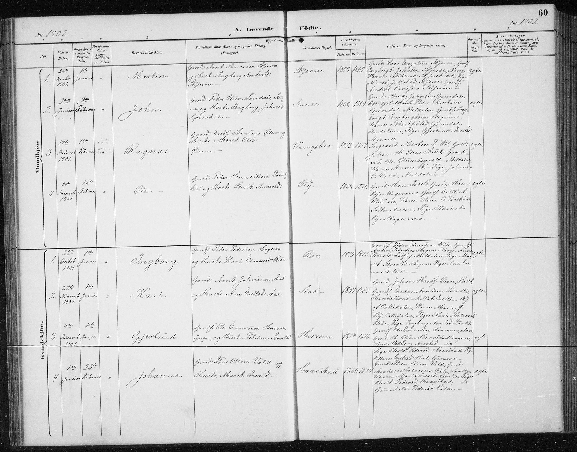 SAT, Ministerialprotokoller, klokkerbøker og fødselsregistre - Sør-Trøndelag, 674/L0876: Klokkerbok nr. 674C03, 1892-1912, s. 60