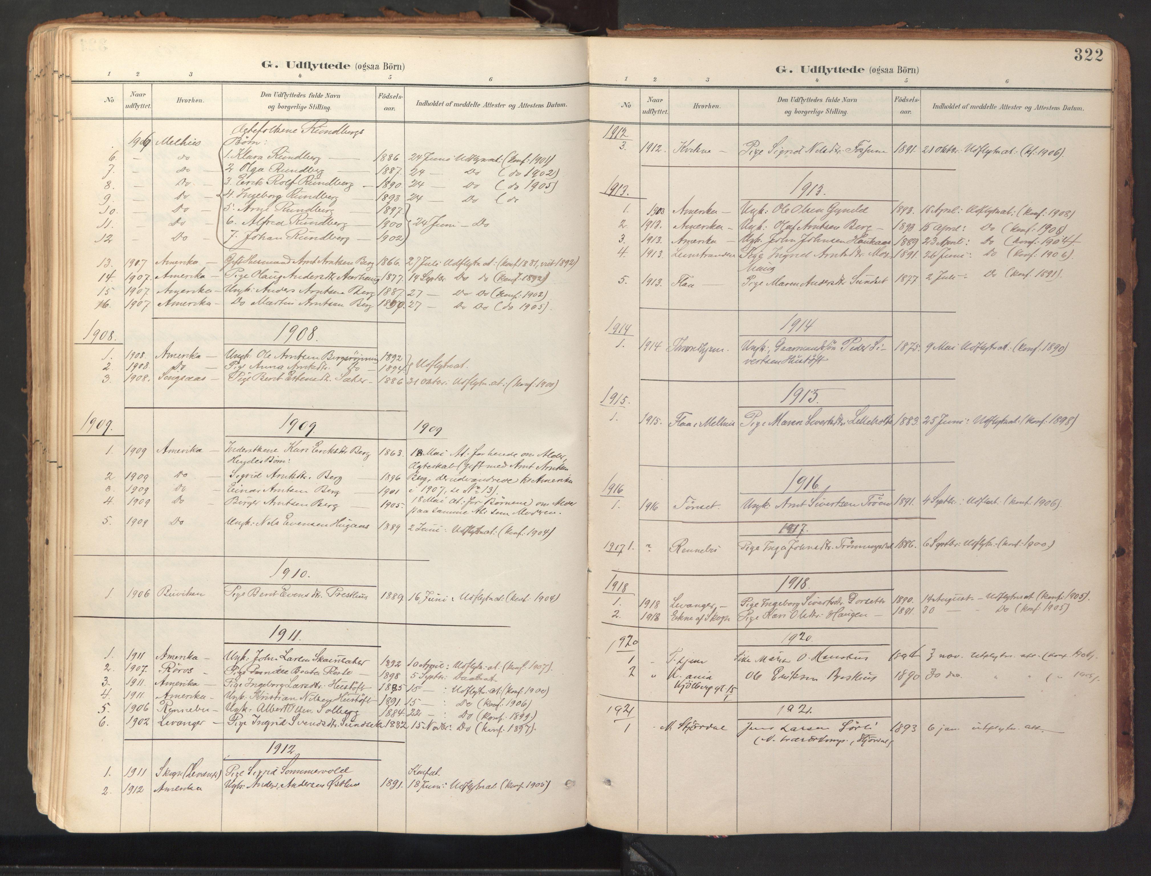 SAT, Ministerialprotokoller, klokkerbøker og fødselsregistre - Sør-Trøndelag, 689/L1041: Ministerialbok nr. 689A06, 1891-1923, s. 322