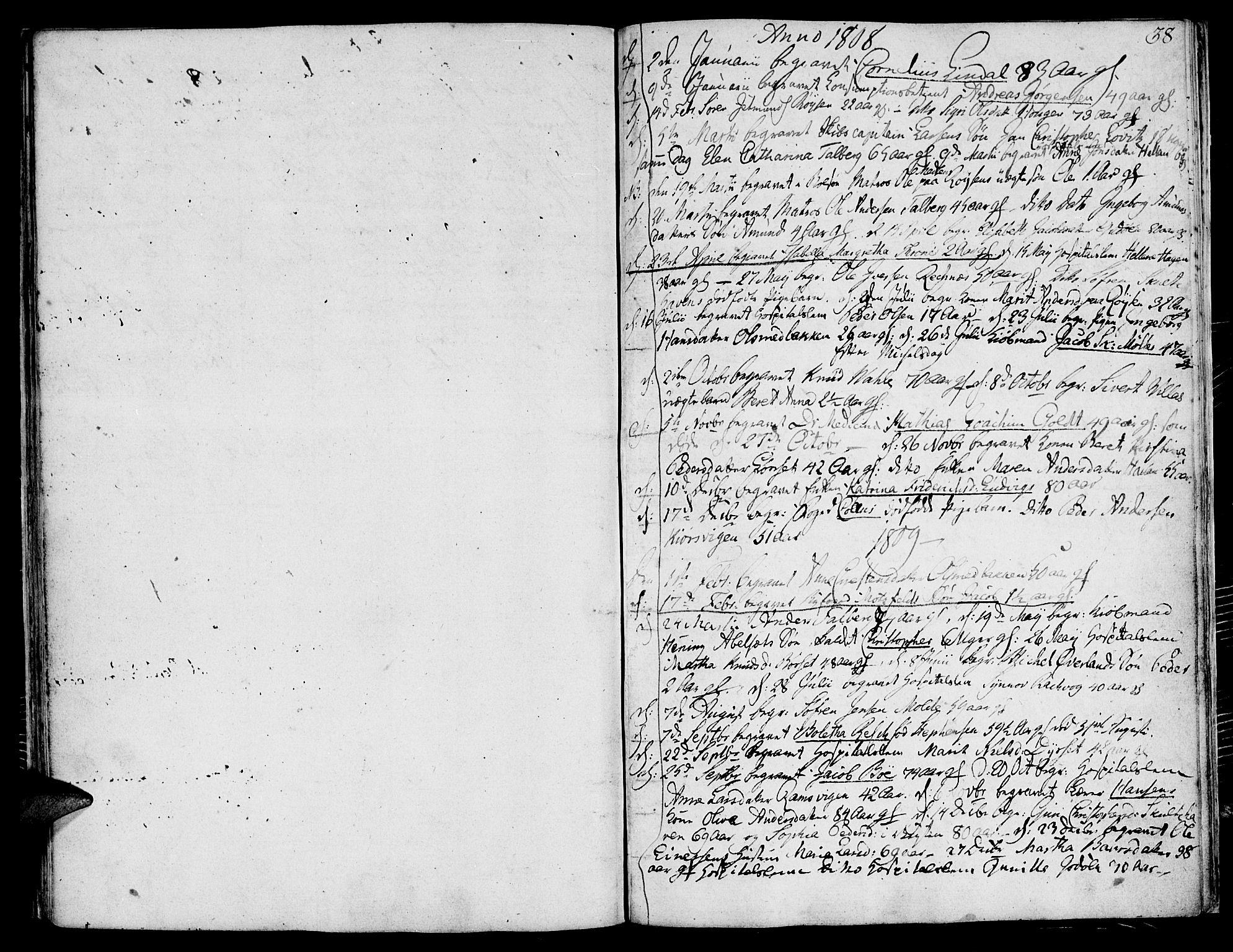 SAT, Ministerialprotokoller, klokkerbøker og fødselsregistre - Møre og Romsdal, 558/L0687: Ministerialbok nr. 558A01, 1798-1818, s. 38