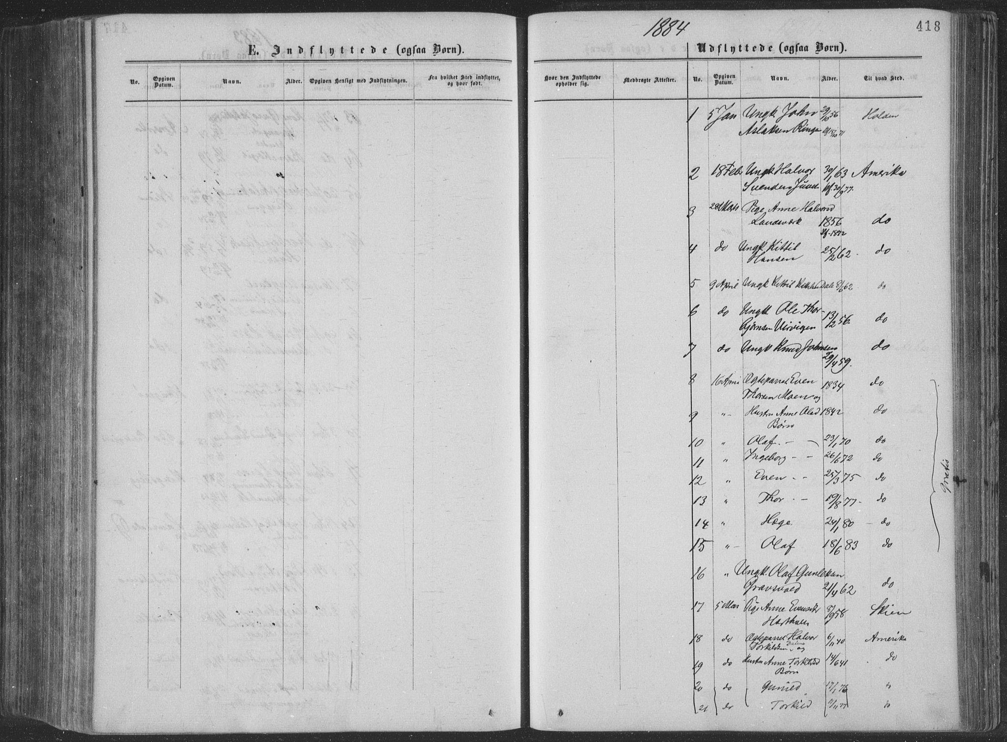 SAKO, Seljord kirkebøker, F/Fa/L0014: Ministerialbok nr. I 14, 1877-1886, s. 418