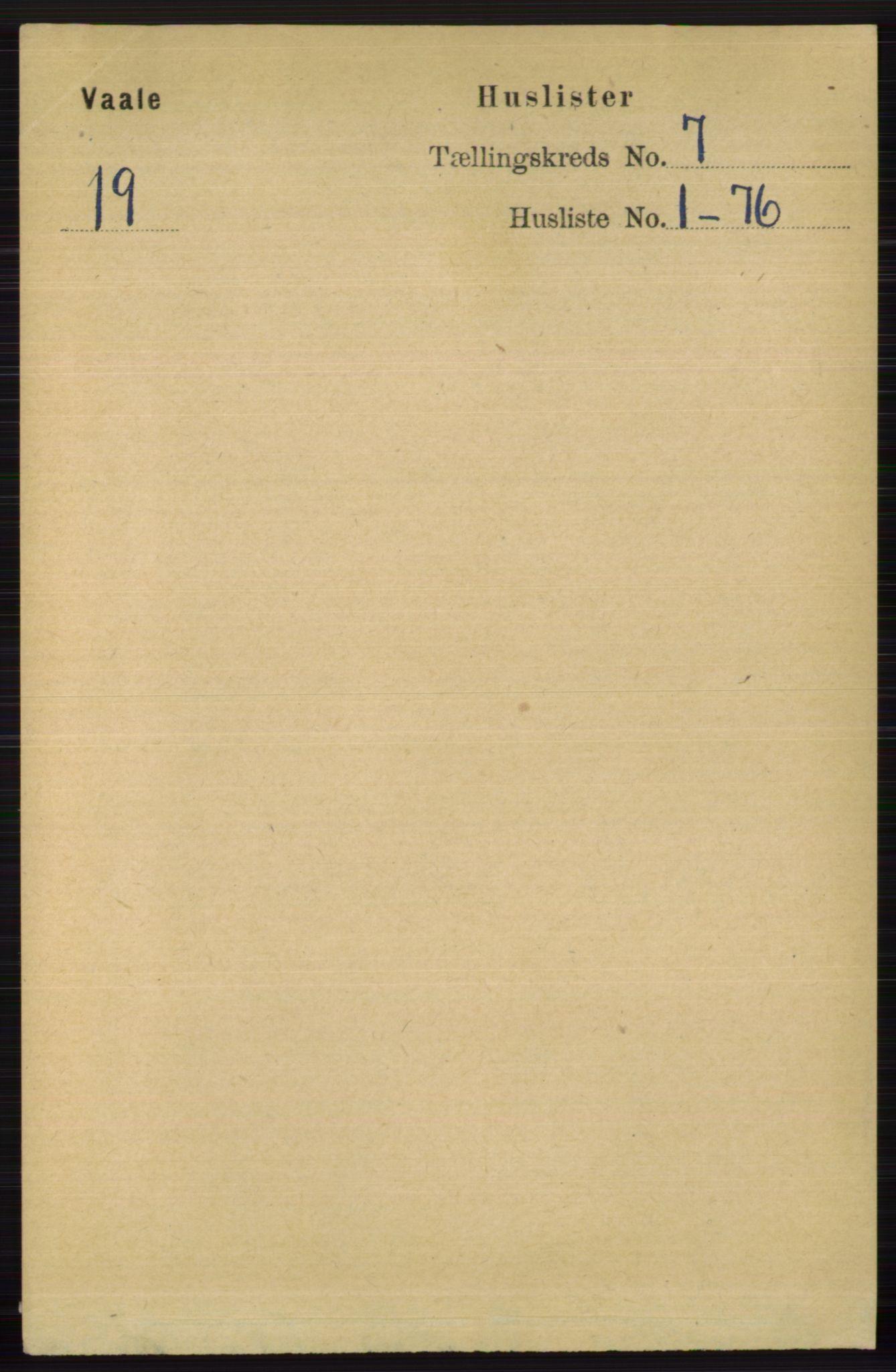RA, Folketelling 1891 for 0716 Våle herred, 1891, s. 2303