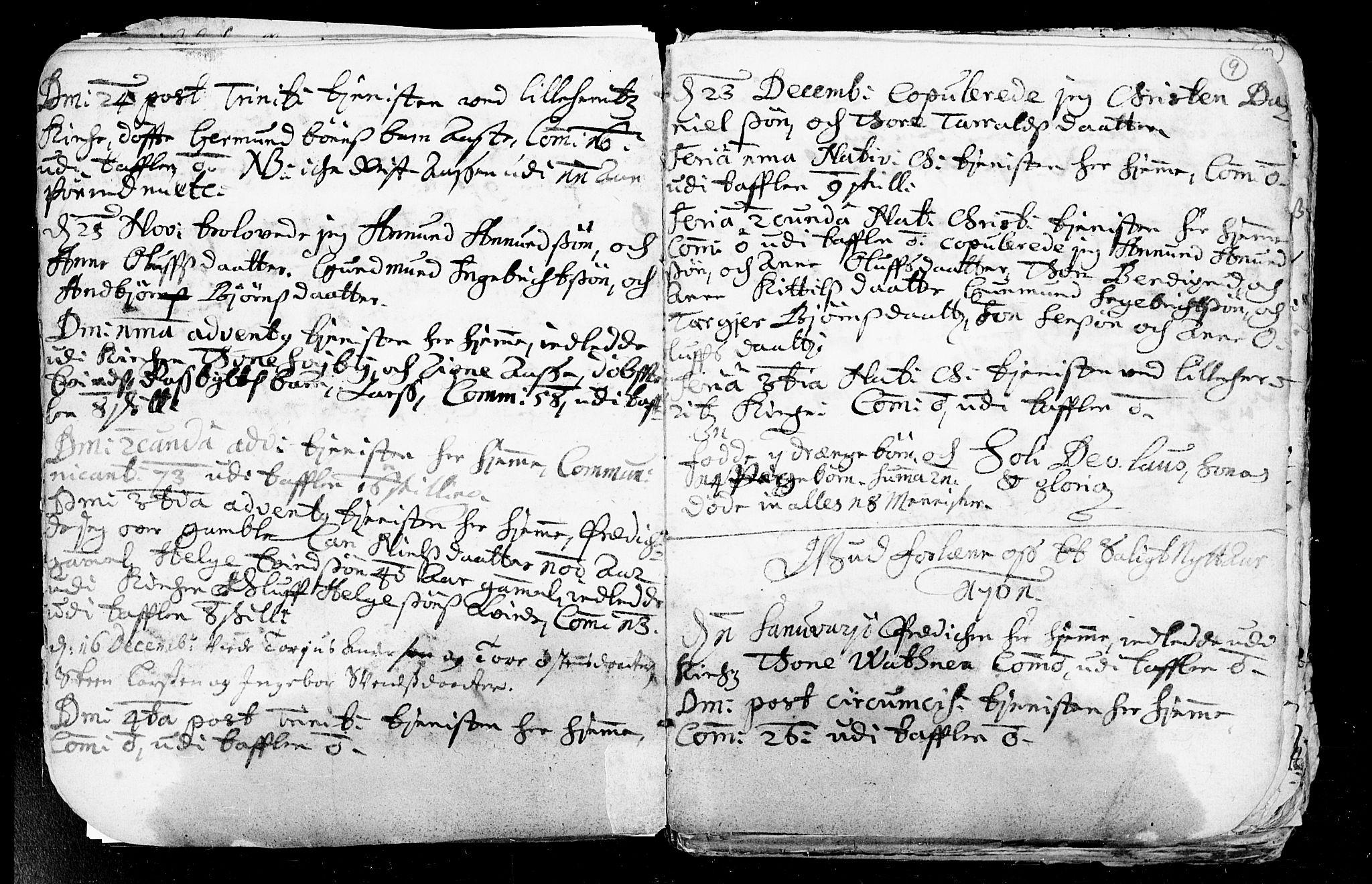 SAKO, Heddal kirkebøker, F/Fa/L0002: Ministerialbok nr. I 2, 1699-1722, s. 9