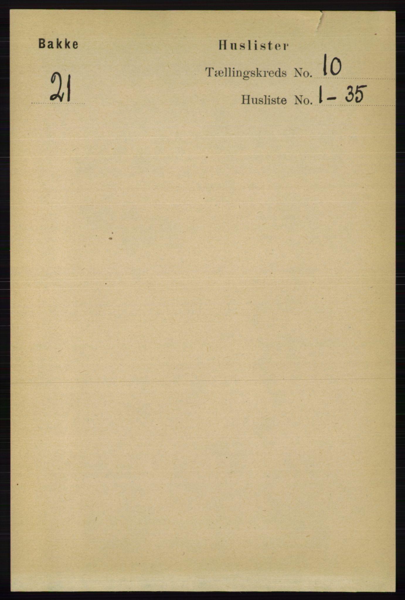 RA, Folketelling 1891 for 1045 Bakke herred, 1891, s. 1964