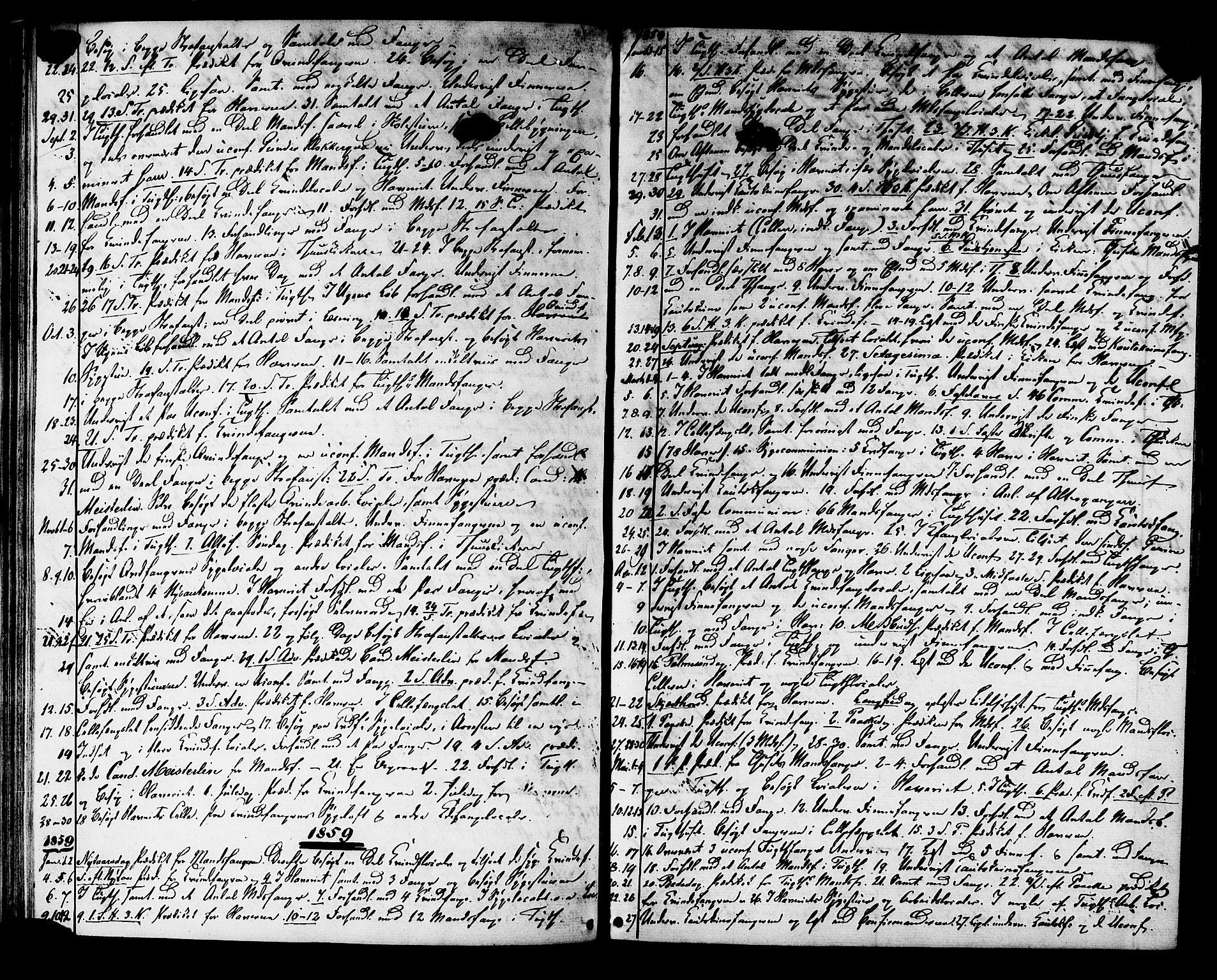 SAT, Ministerialprotokoller, klokkerbøker og fødselsregistre - Sør-Trøndelag, 624/L0481: Ministerialbok nr. 624A02, 1841-1869, s. 44