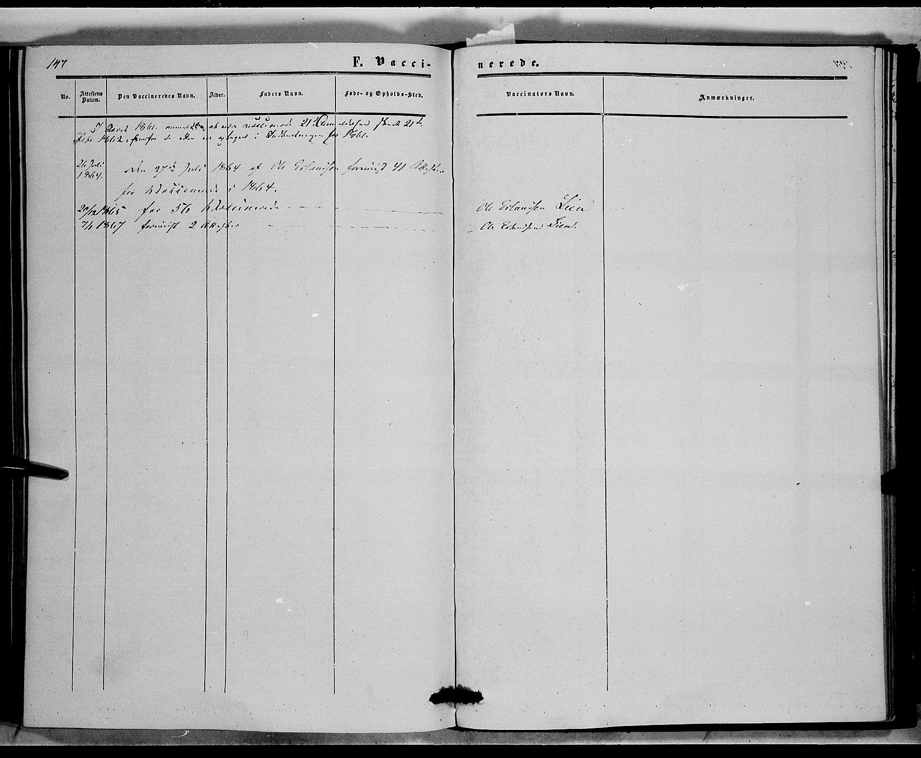 SAH, Sør-Aurdal prestekontor, Ministerialbok nr. 6, 1849-1876, s. 147