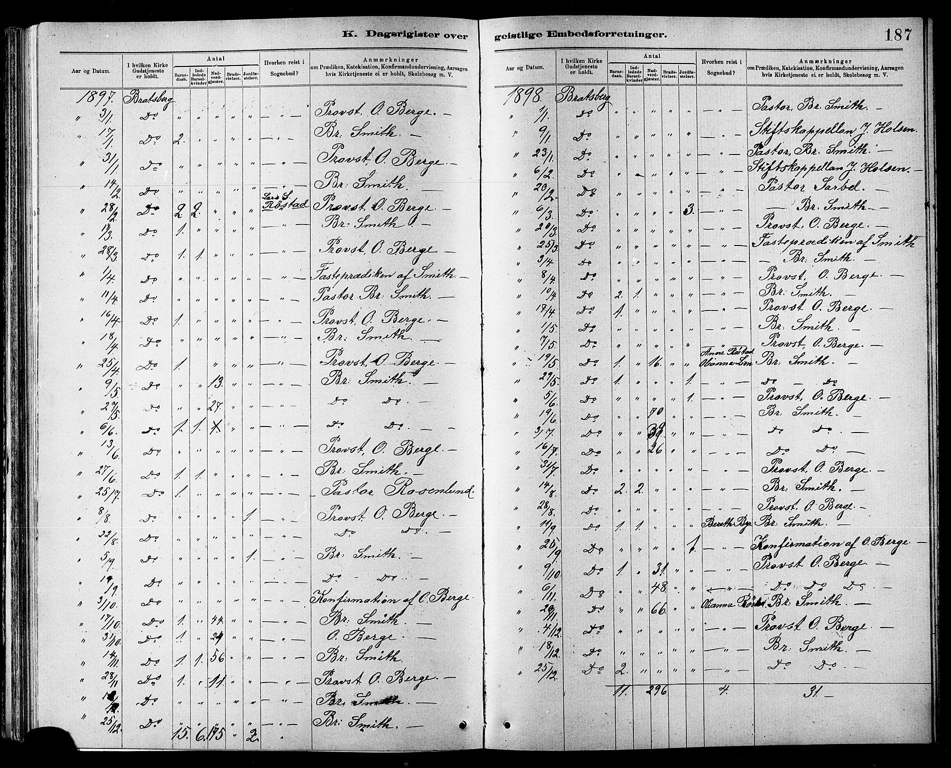 SAT, Ministerialprotokoller, klokkerbøker og fødselsregistre - Sør-Trøndelag, 608/L0341: Klokkerbok nr. 608C07, 1890-1912, s. 187