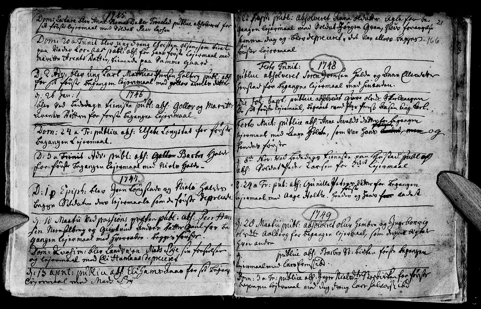 SAT, Ministerialprotokoller, klokkerbøker og fødselsregistre - Nord-Trøndelag, 730/L0272: Ministerialbok nr. 730A01, 1733-1764, s. 166