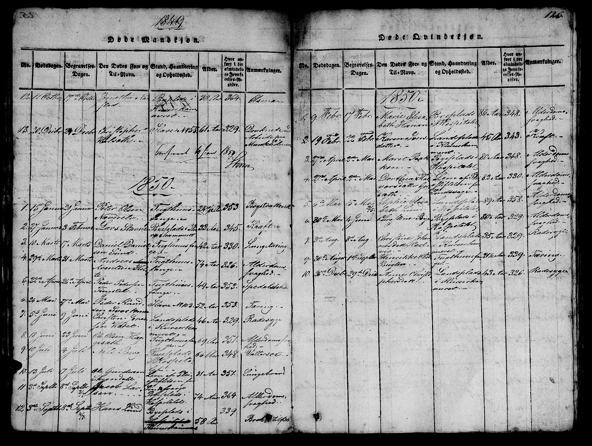 SAT, Ministerialprotokoller, klokkerbøker og fødselsregistre - Sør-Trøndelag, 623/L0478: Klokkerbok nr. 623C01, 1815-1873, s. 126