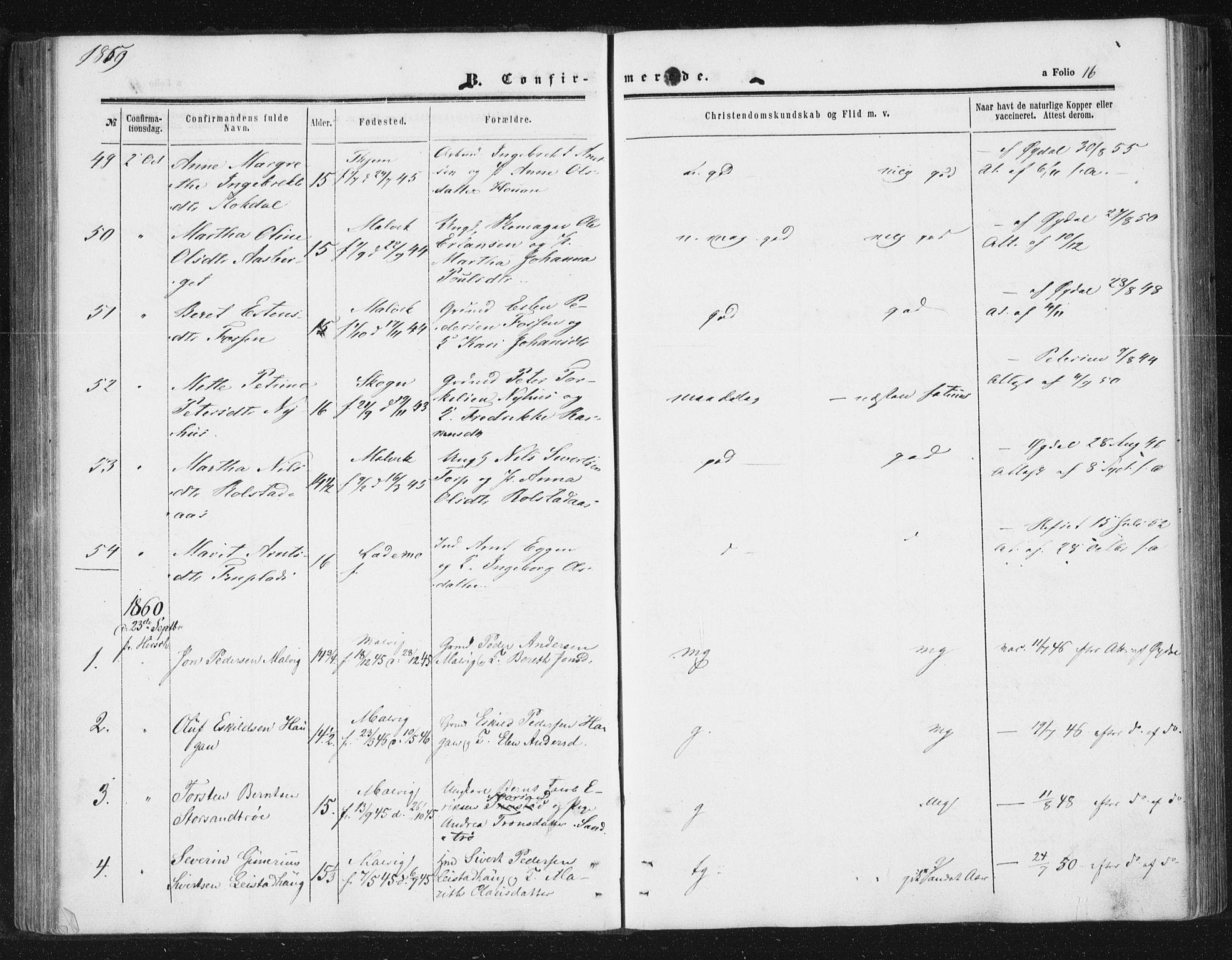 SAT, Ministerialprotokoller, klokkerbøker og fødselsregistre - Sør-Trøndelag, 616/L0408: Ministerialbok nr. 616A05, 1857-1865, s. 16