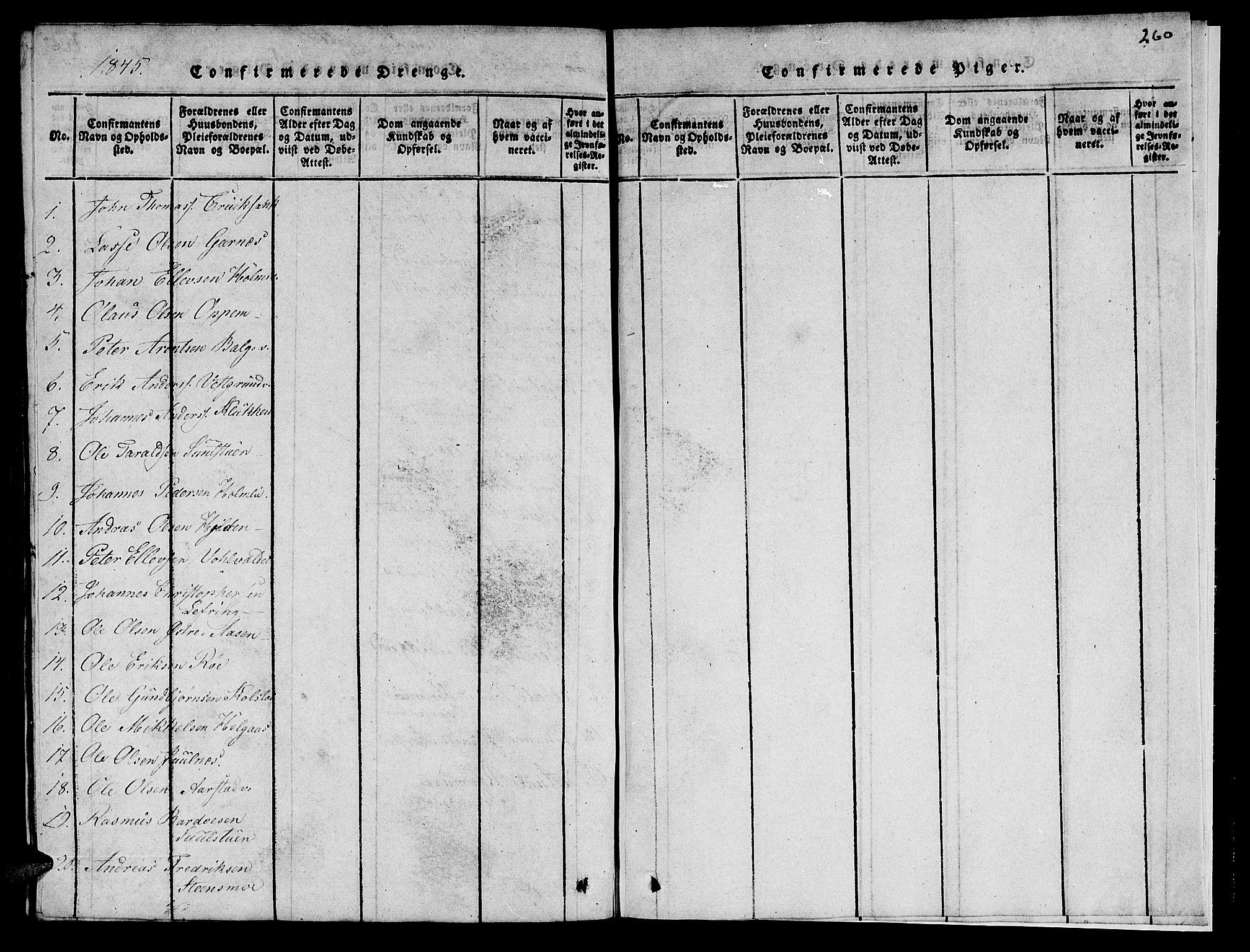 SAT, Ministerialprotokoller, klokkerbøker og fødselsregistre - Nord-Trøndelag, 723/L0251: Klokkerbok nr. 723C01 /2, 1843-1845, s. 252
