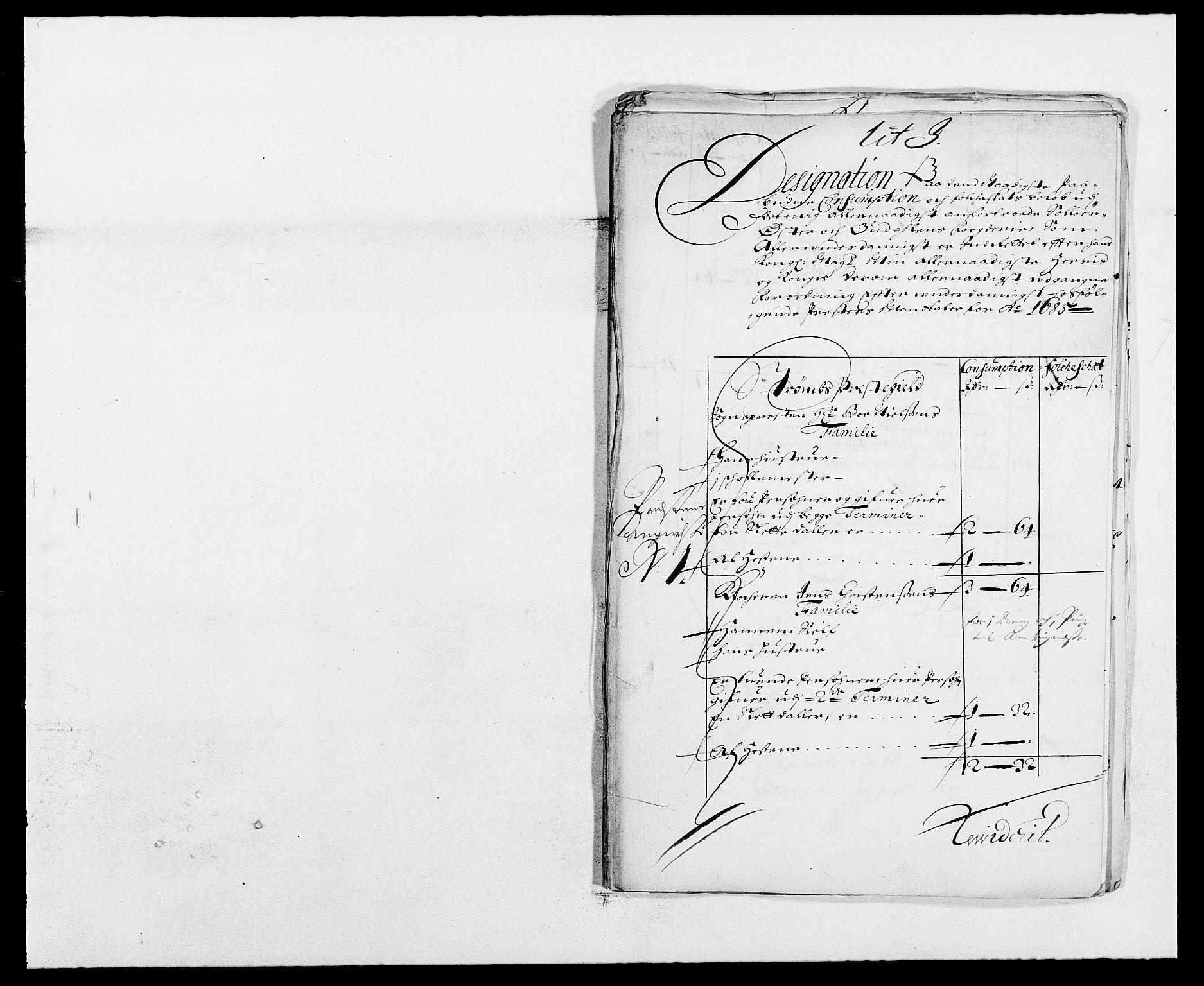 RA, Rentekammeret inntil 1814, Reviderte regnskaper, Fogderegnskap, R13/L0822: Fogderegnskap Solør, Odal og Østerdal, 1685, s. 215