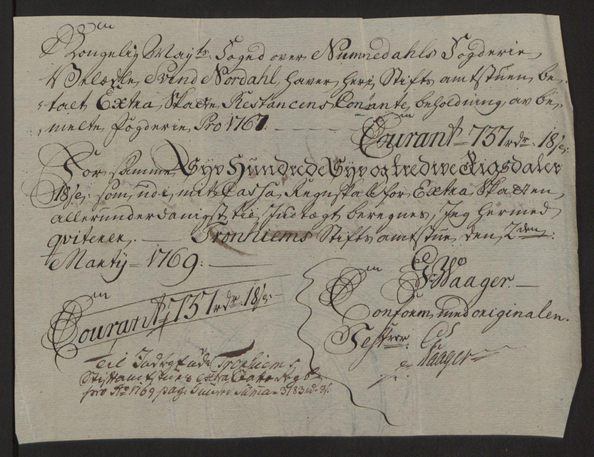 RA, Rentekammeret inntil 1814, Reviderte regnskaper, Fogderegnskap, R64/L4502: Ekstraskatten Namdal, 1762-1772, s. 329