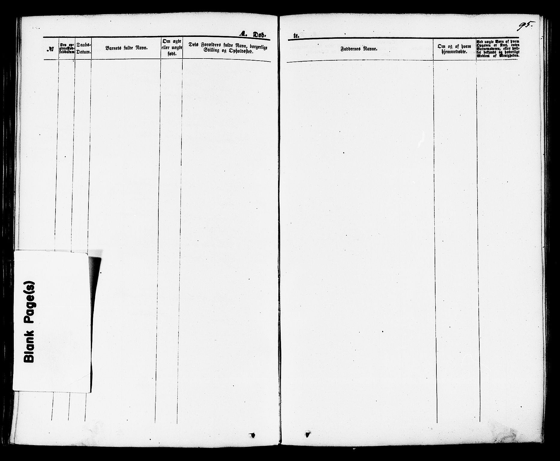 SAKO, Brevik kirkebøker, F/Fa/L0006: Ministerialbok nr. 6, 1866-1881, s. 95