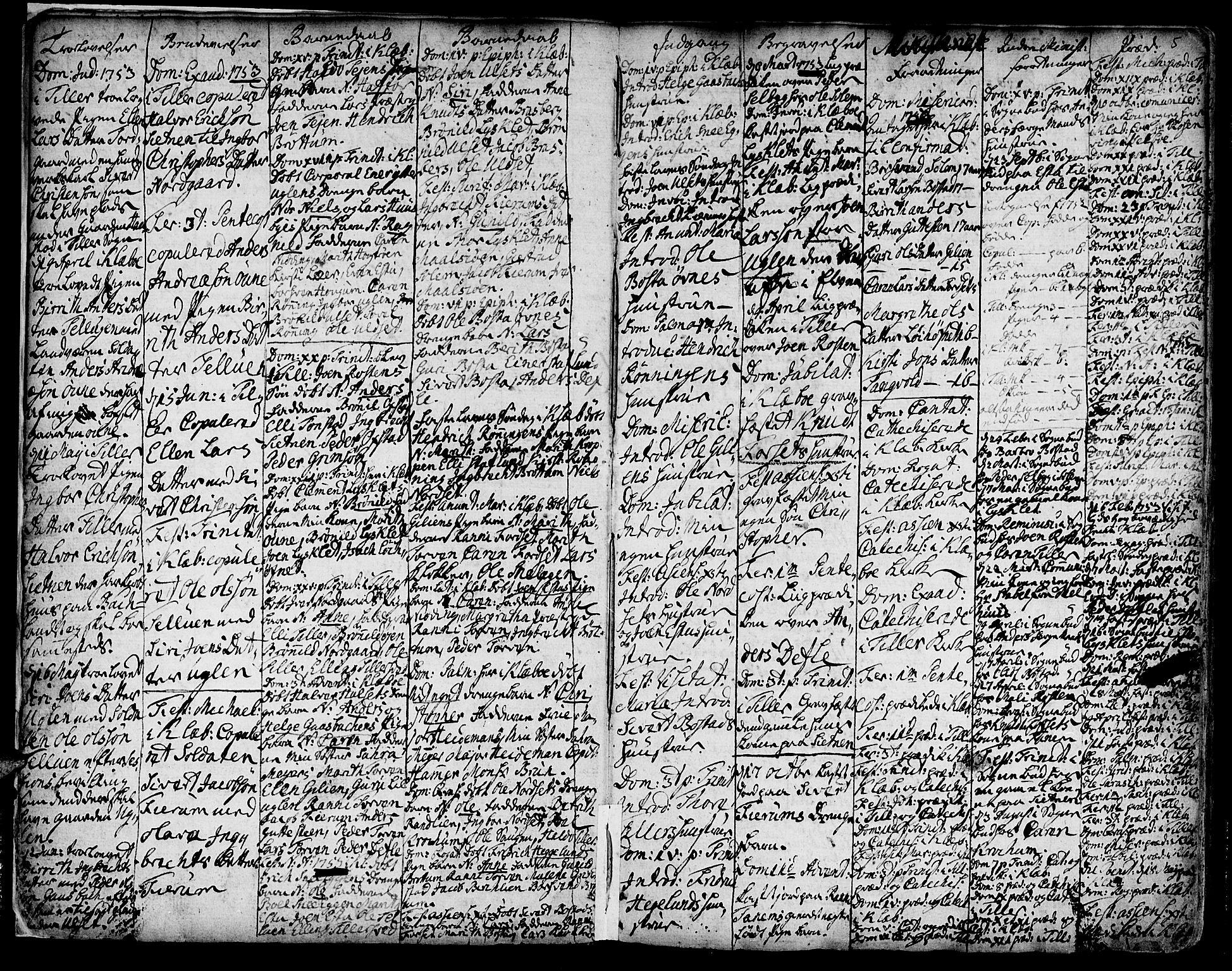 SAT, Ministerialprotokoller, klokkerbøker og fødselsregistre - Sør-Trøndelag, 618/L0437: Ministerialbok nr. 618A02, 1749-1782, s. 5