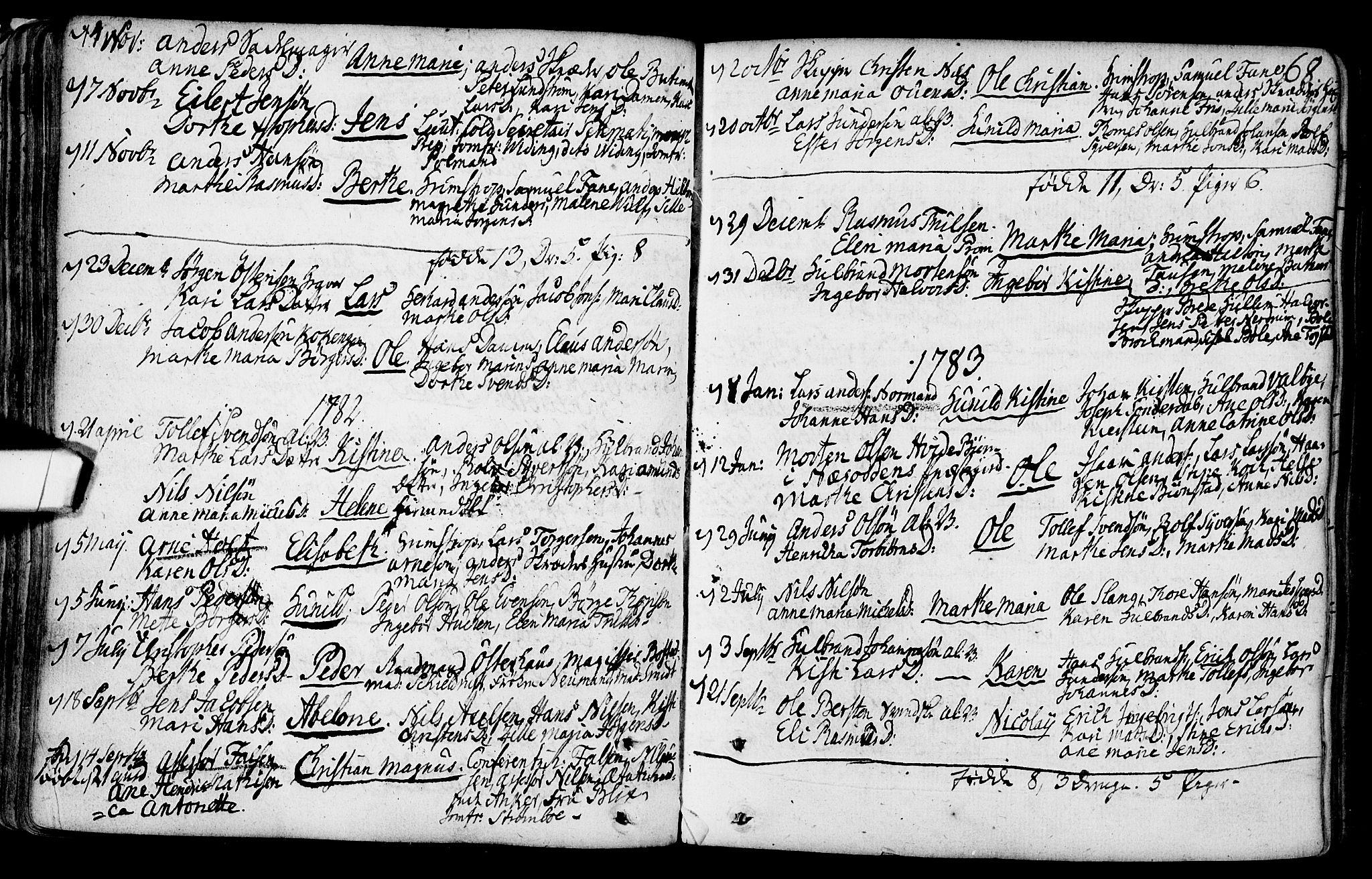 SAO, Gamlebyen prestekontor Kirkebøker, F/Fa/L0001: Ministerialbok nr. 1, 1734-1818, s. 68