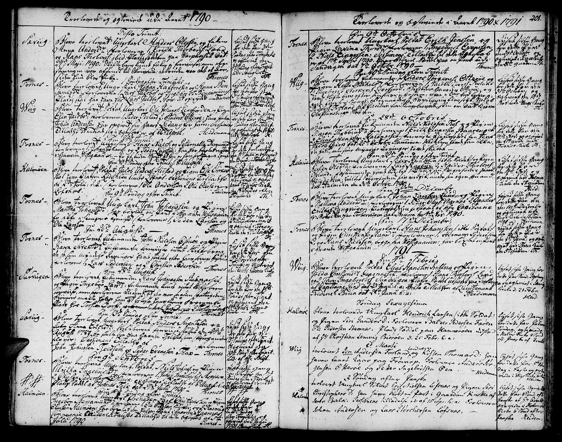 SAT, Ministerialprotokoller, klokkerbøker og fødselsregistre - Nord-Trøndelag, 773/L0608: Ministerialbok nr. 773A02, 1784-1816, s. 201