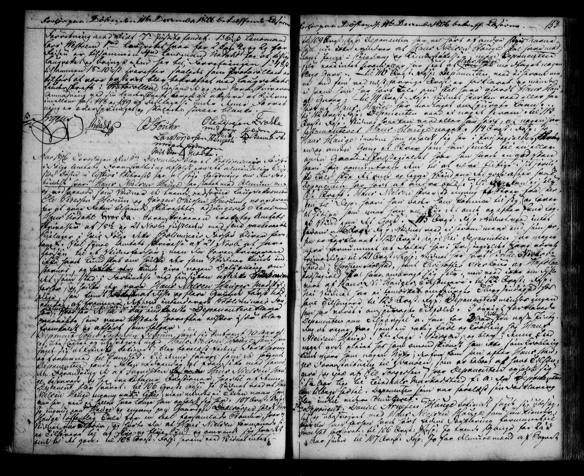 SAB, Indre Sogn sorenskriveri, F/Fb/Fba/L0001: Sivile og offentlege saker, A 1, 1804-1810, s. 152b-153a