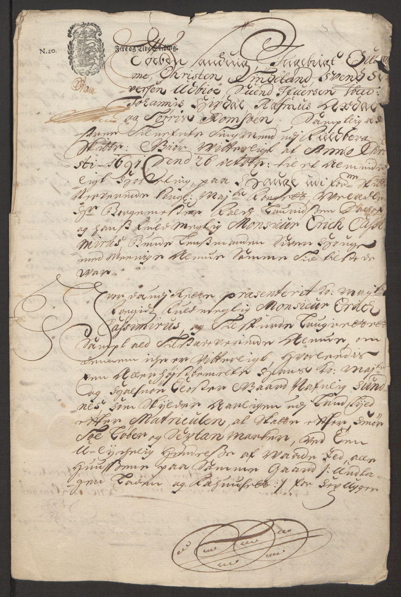 RA, Rentekammeret inntil 1814, Reviderte regnskaper, Fogderegnskap, R48/L2973: Fogderegnskap Sunnhordland og Hardanger, 1691-1692, s. 147