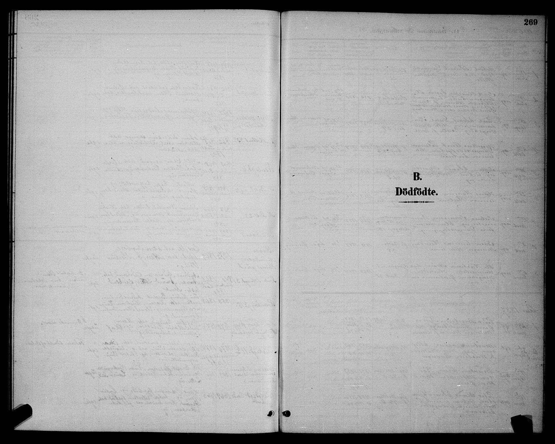SAT, Ministerialprotokoller, klokkerbøker og fødselsregistre - Sør-Trøndelag, 604/L0222: Klokkerbok nr. 604C05, 1886-1895, s. 269