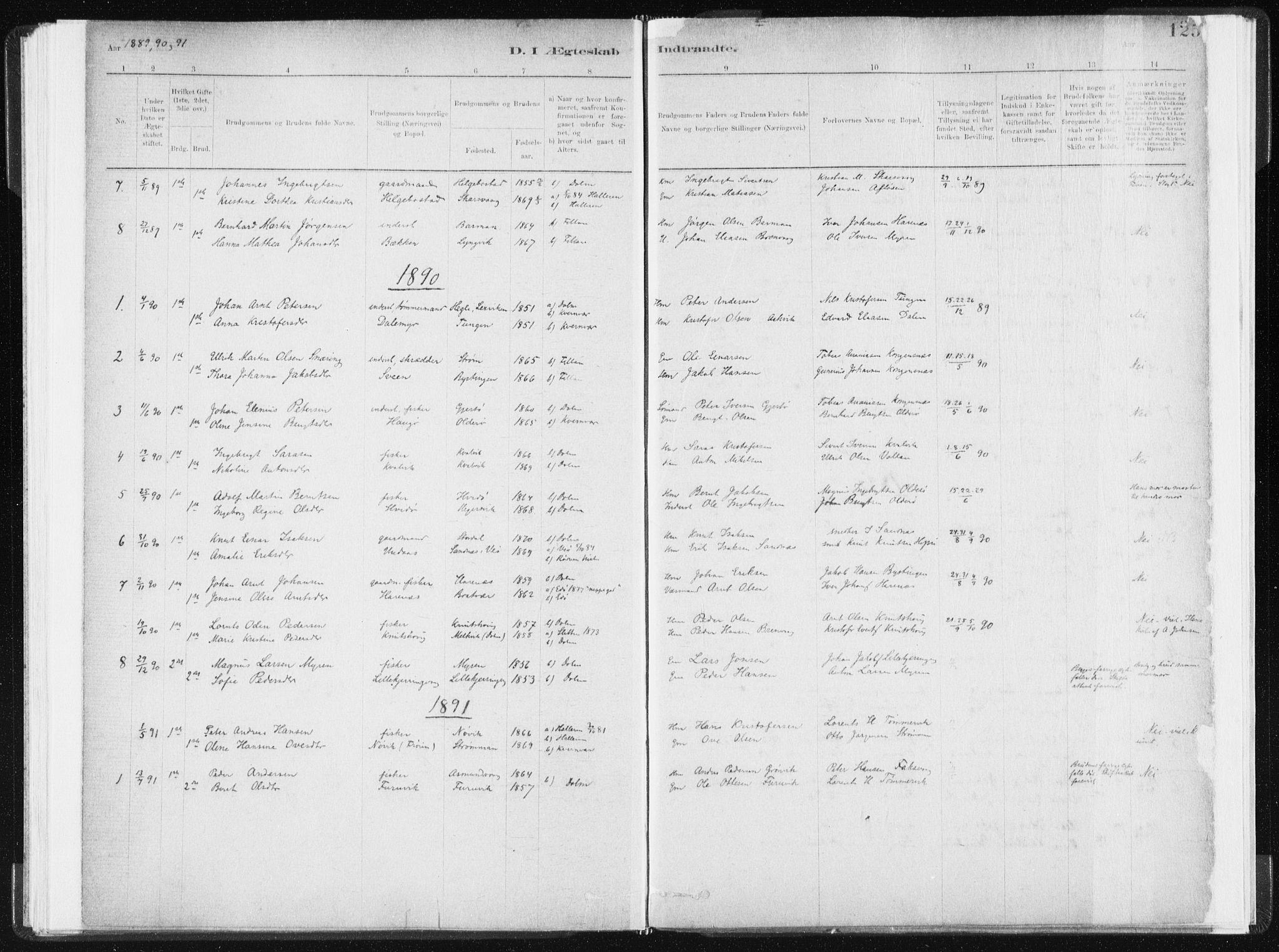 SAT, Ministerialprotokoller, klokkerbøker og fødselsregistre - Sør-Trøndelag, 634/L0533: Ministerialbok nr. 634A09, 1882-1901, s. 125