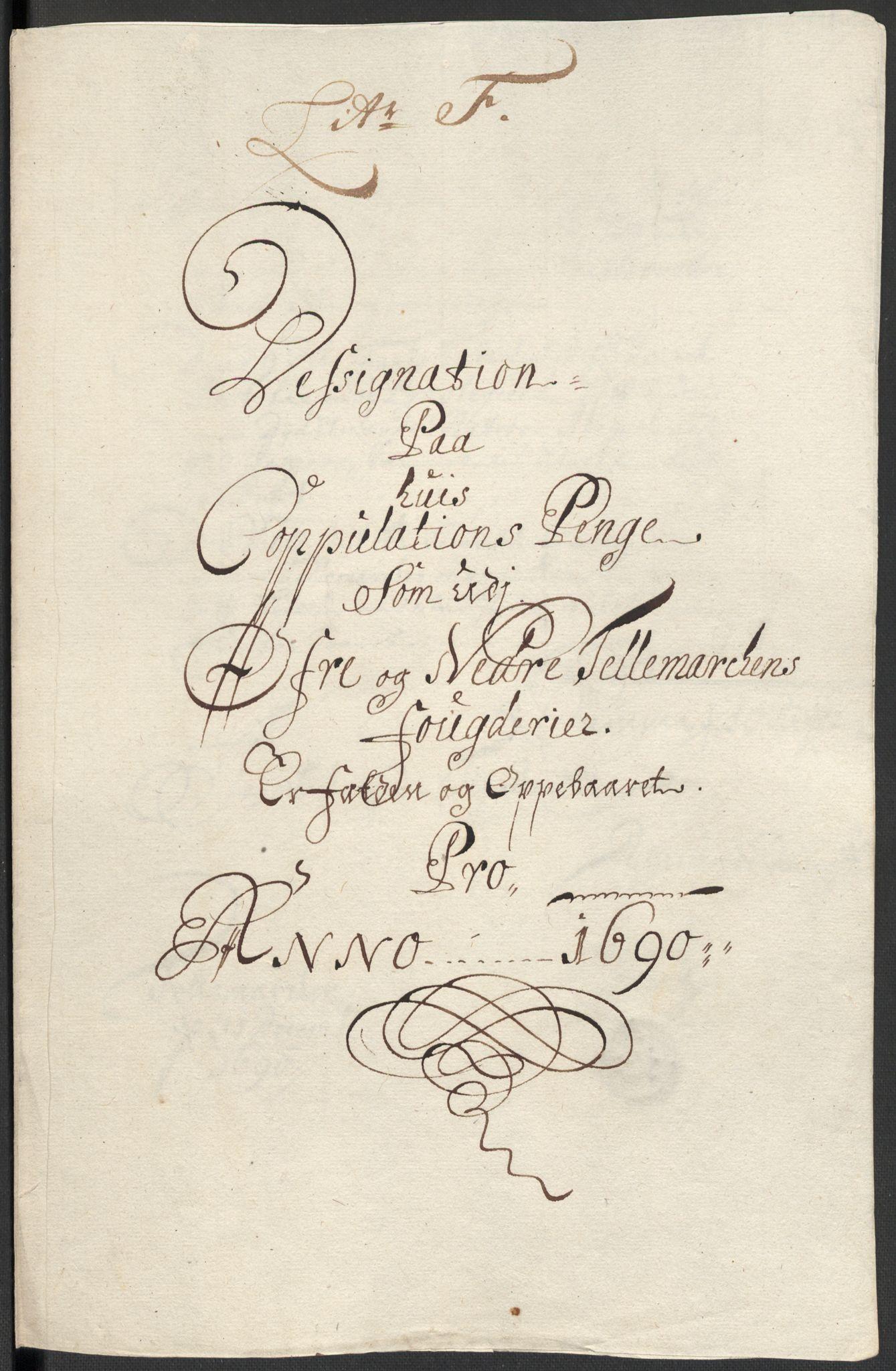 RA, Rentekammeret inntil 1814, Reviderte regnskaper, Fogderegnskap, R35/L2089: Fogderegnskap Øvre og Nedre Telemark, 1690-1692, s. 108