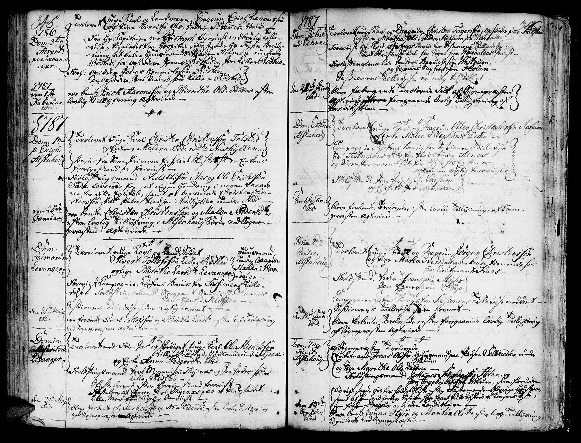 SAT, Ministerialprotokoller, klokkerbøker og fødselsregistre - Nord-Trøndelag, 717/L0141: Ministerialbok nr. 717A01, 1747-1803, s. 345-346