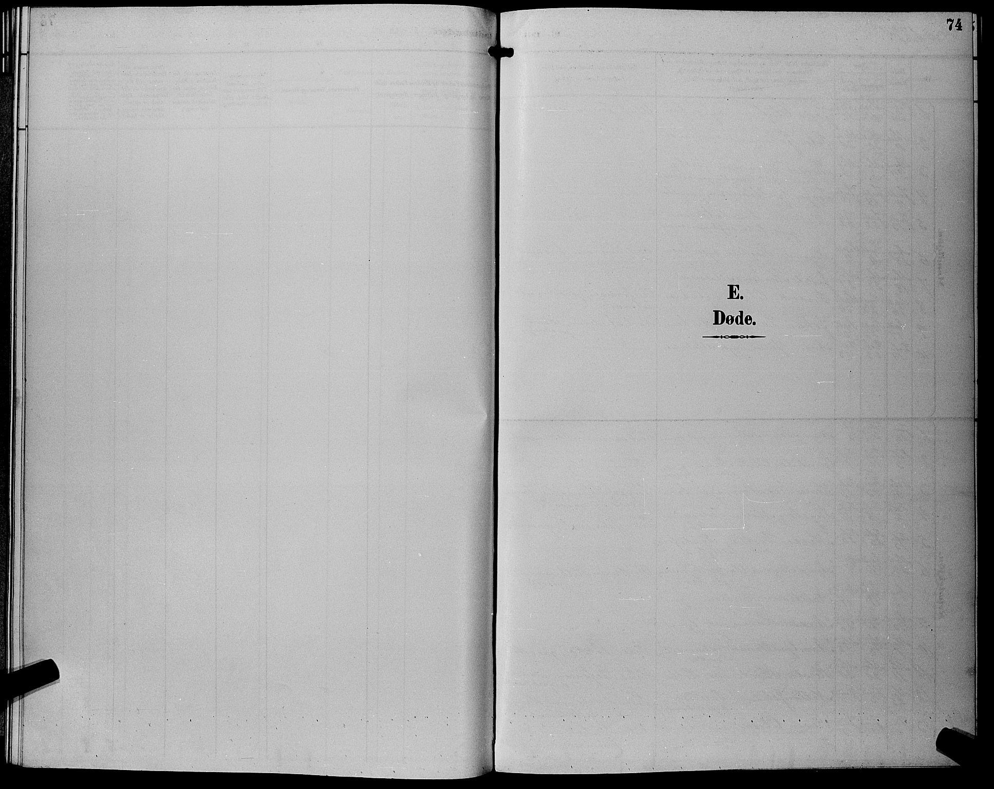 SAKO, Eiker kirkebøker, G/Gb/L0004: Klokkerbok nr. II 4, 1894-1900, s. 74