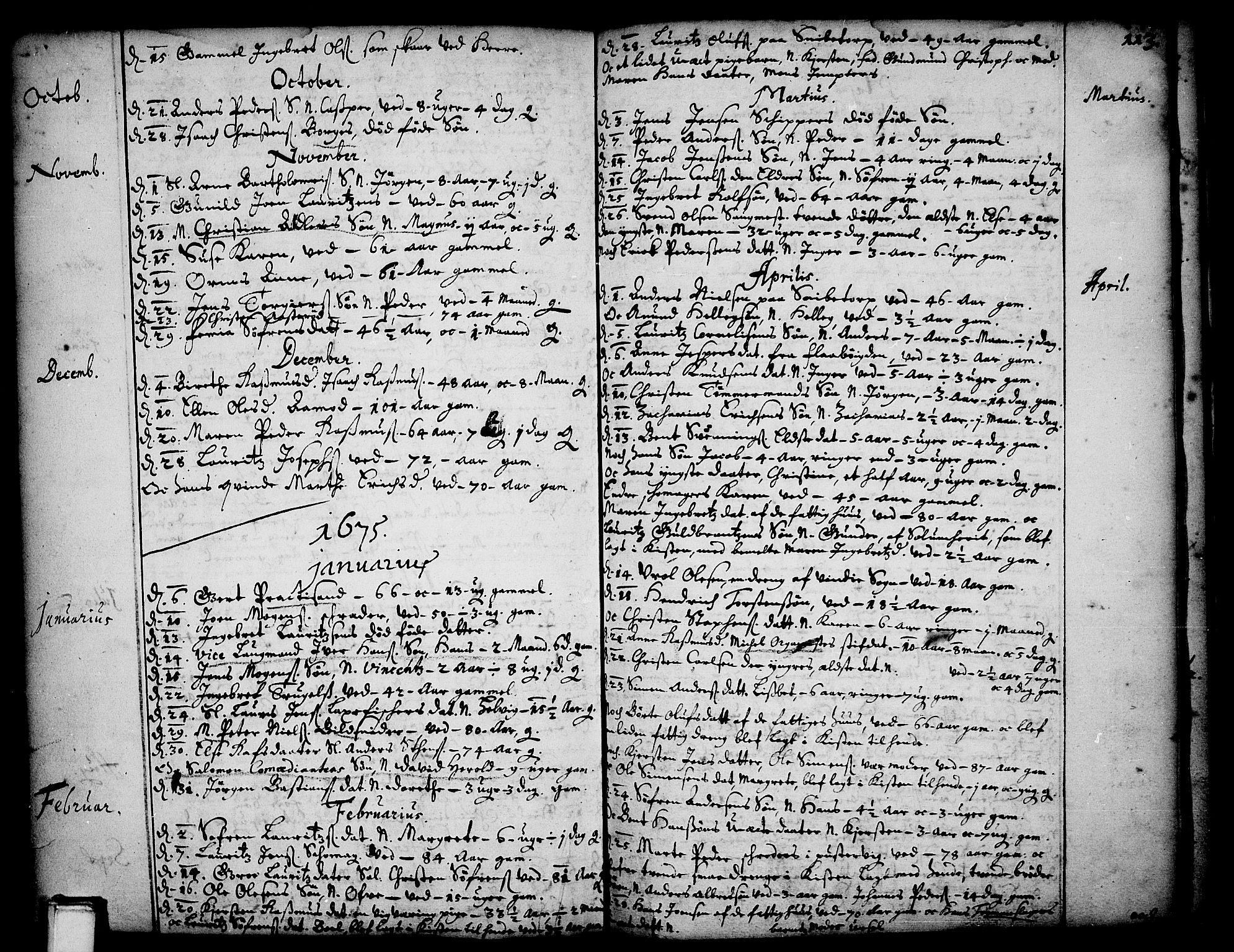 SAKO, Skien kirkebøker, F/Fa/L0001: Ministerialbok nr. 1, 1659-1679, s. 113