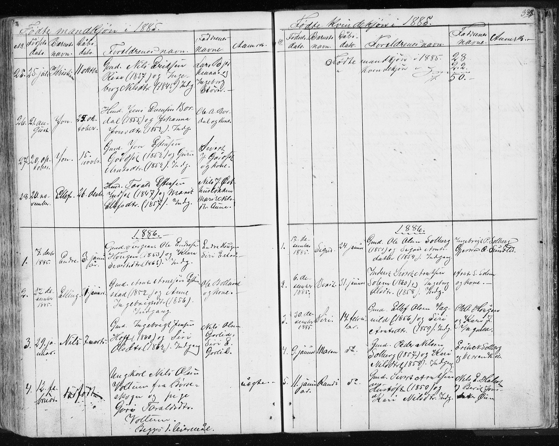 SAT, Ministerialprotokoller, klokkerbøker og fødselsregistre - Sør-Trøndelag, 689/L1043: Klokkerbok nr. 689C02, 1816-1892, s. 338