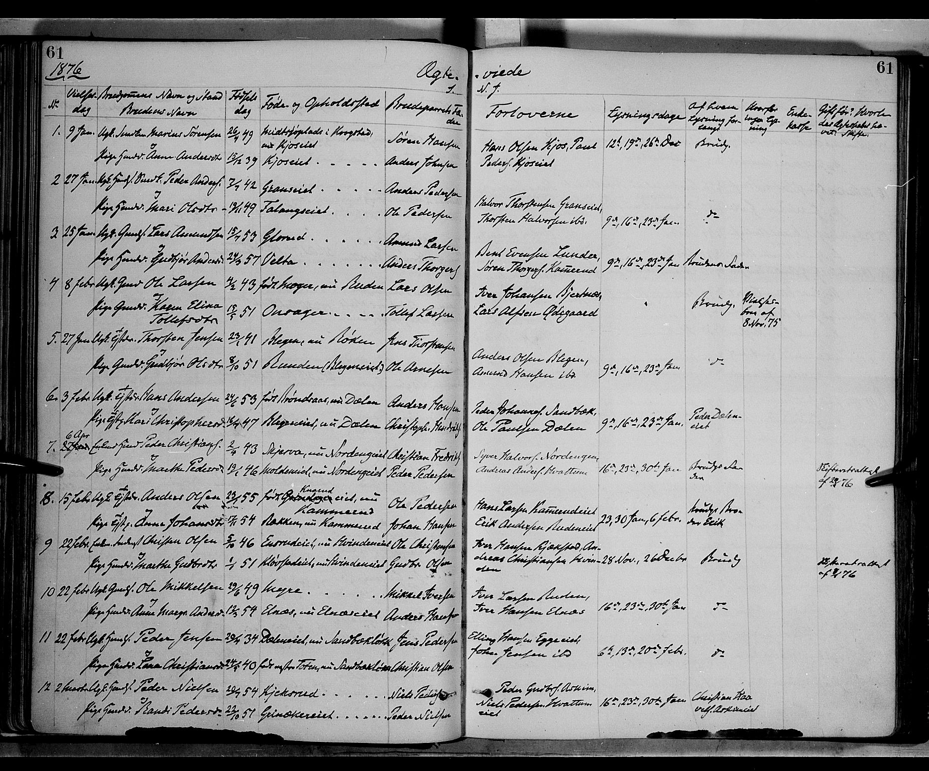 SAH, Gran prestekontor, Ministerialbok nr. 13, 1875-1879, s. 61