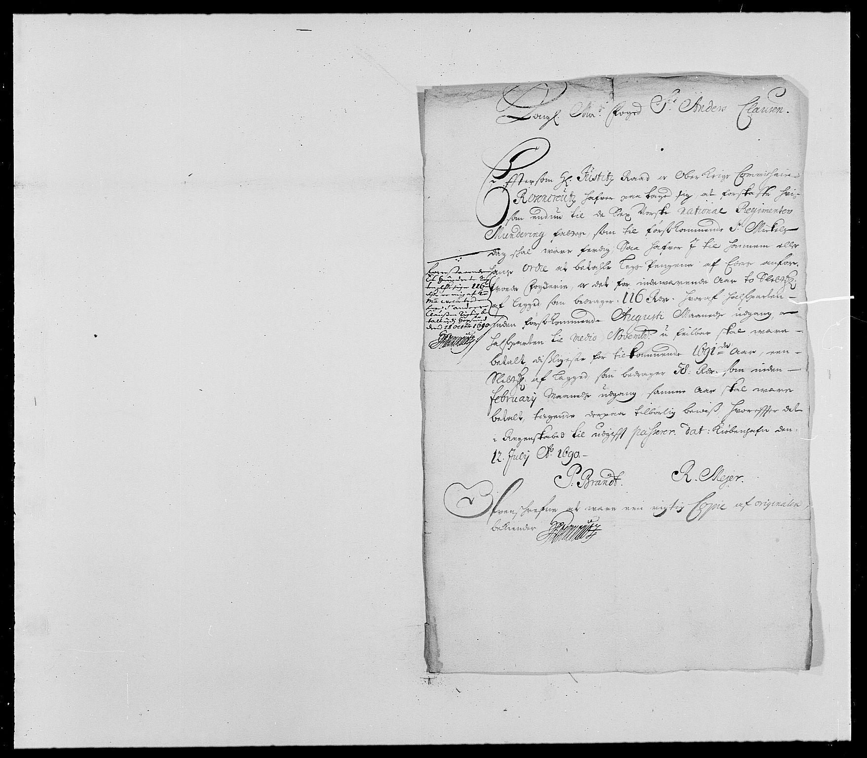 RA, Rentekammeret inntil 1814, Reviderte regnskaper, Fogderegnskap, R25/L1680: Fogderegnskap Buskerud, 1689-1690, s. 456