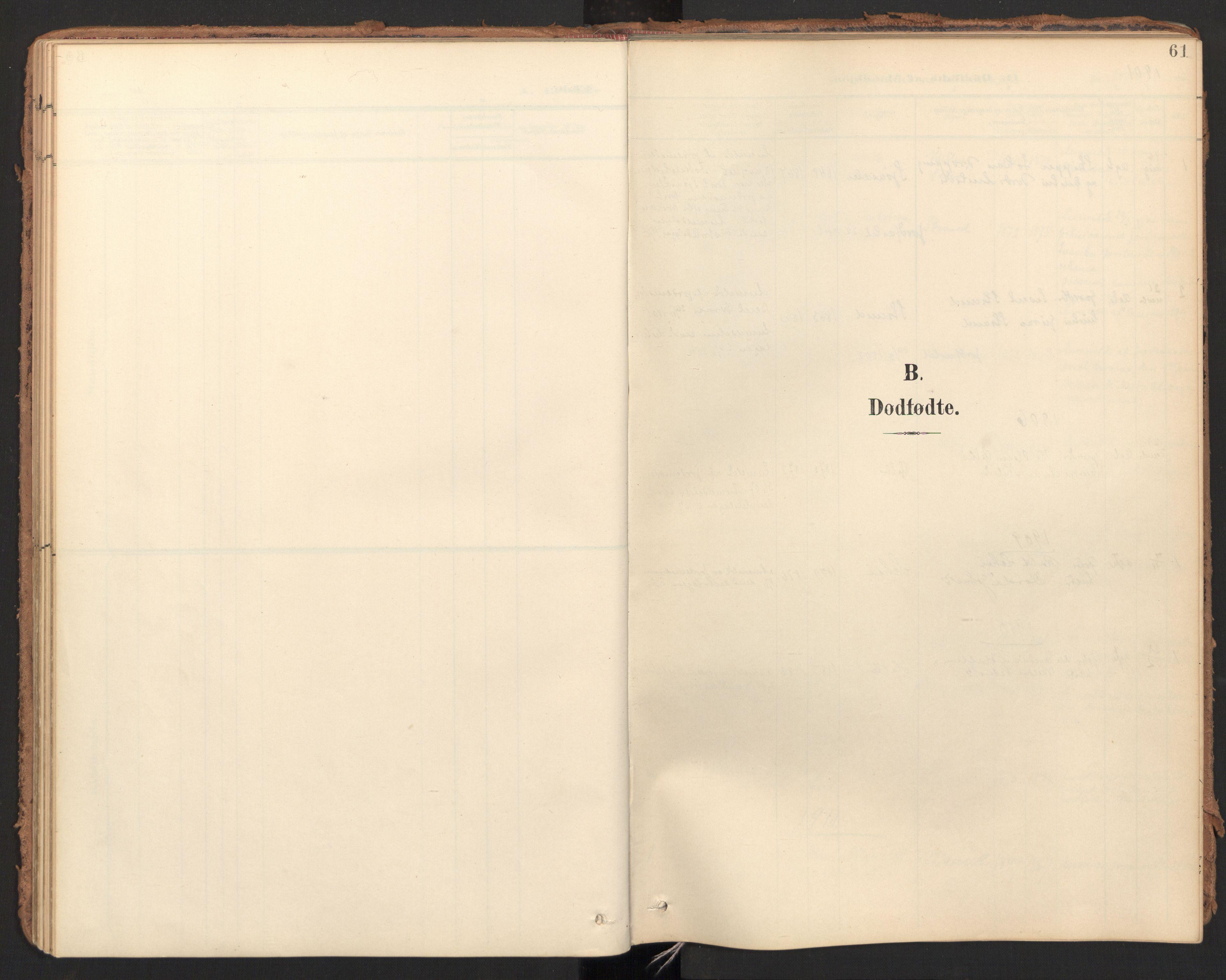 SAT, Ministerialprotokoller, klokkerbøker og fødselsregistre - Møre og Romsdal, 596/L1057: Ministerialbok nr. 596A02, 1900-1917, s. 61
