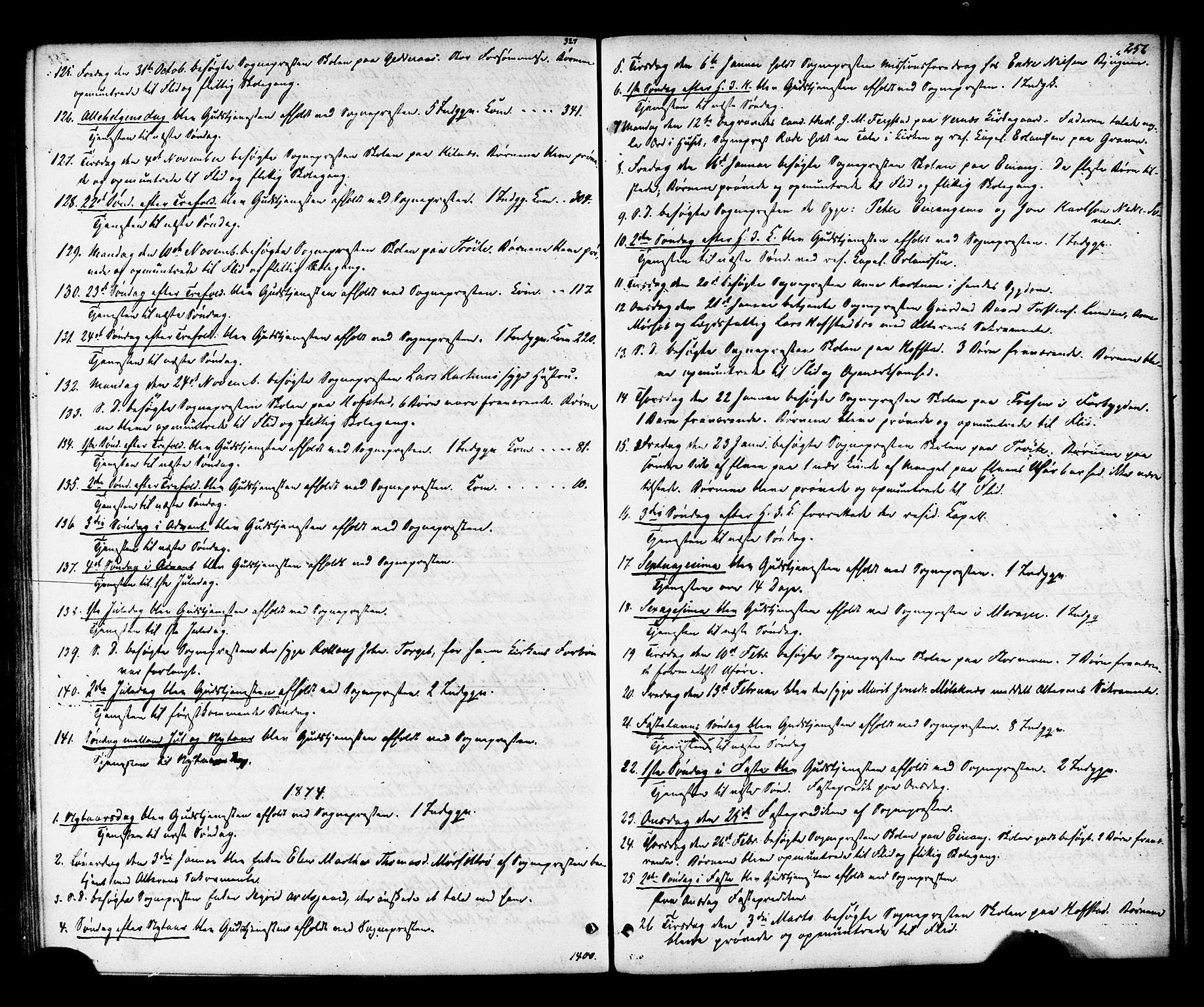 SAT, Ministerialprotokoller, klokkerbøker og fødselsregistre - Nord-Trøndelag, 703/L0029: Ministerialbok nr. 703A02, 1863-1879, s. 256