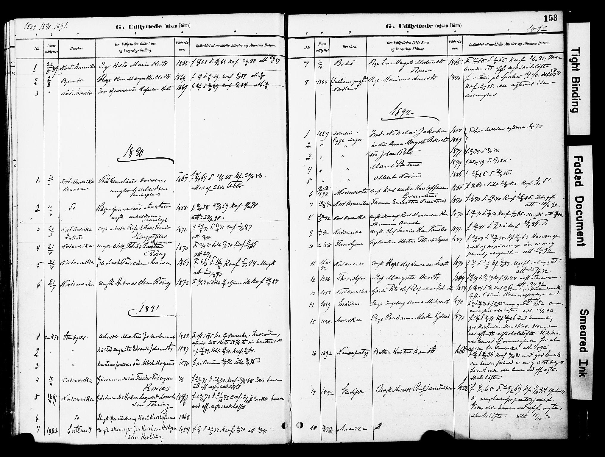 SAT, Ministerialprotokoller, klokkerbøker og fødselsregistre - Nord-Trøndelag, 741/L0396: Ministerialbok nr. 741A10, 1889-1901, s. 153