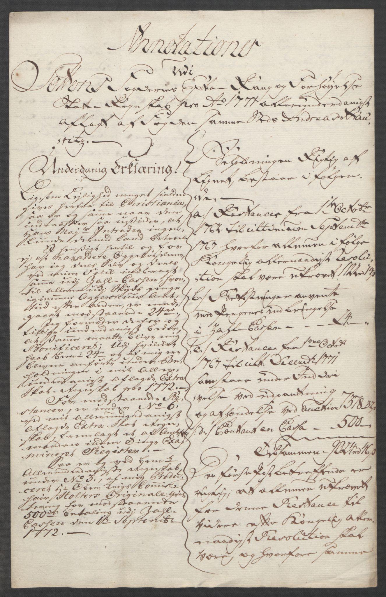 RA, Rentekammeret inntil 1814, Reviderte regnskaper, Fogderegnskap, R19/L1399: Fogderegnskap Toten, Hadeland og Vardal, 1762-1783, s. 251