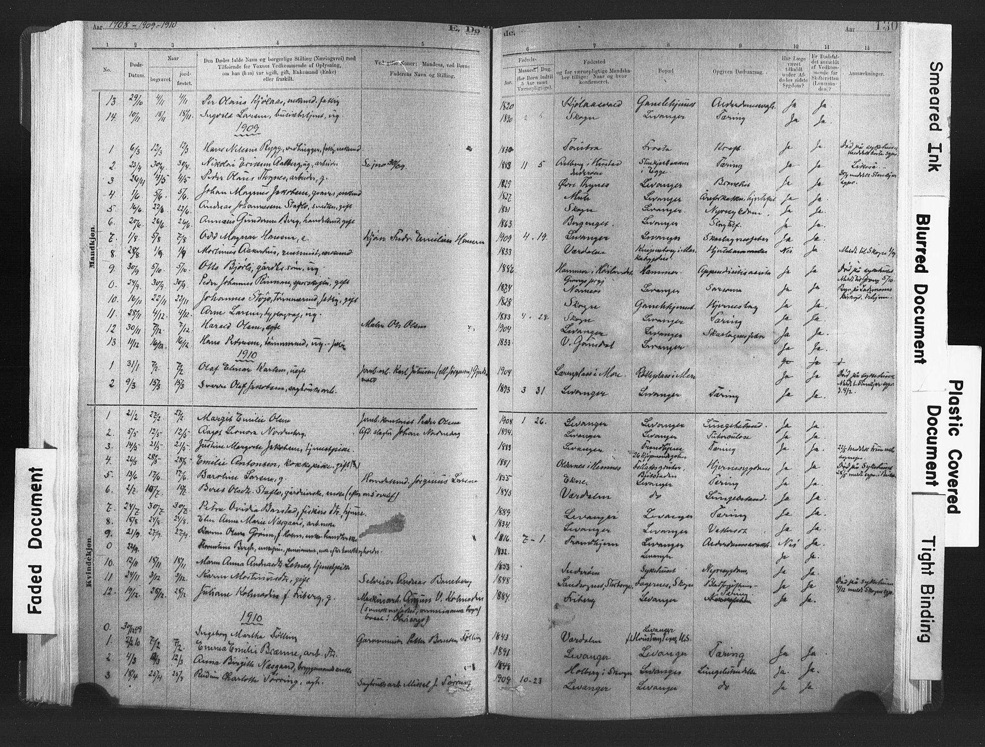 SAT, Ministerialprotokoller, klokkerbøker og fødselsregistre - Nord-Trøndelag, 720/L0189: Ministerialbok nr. 720A05, 1880-1911, s. 130