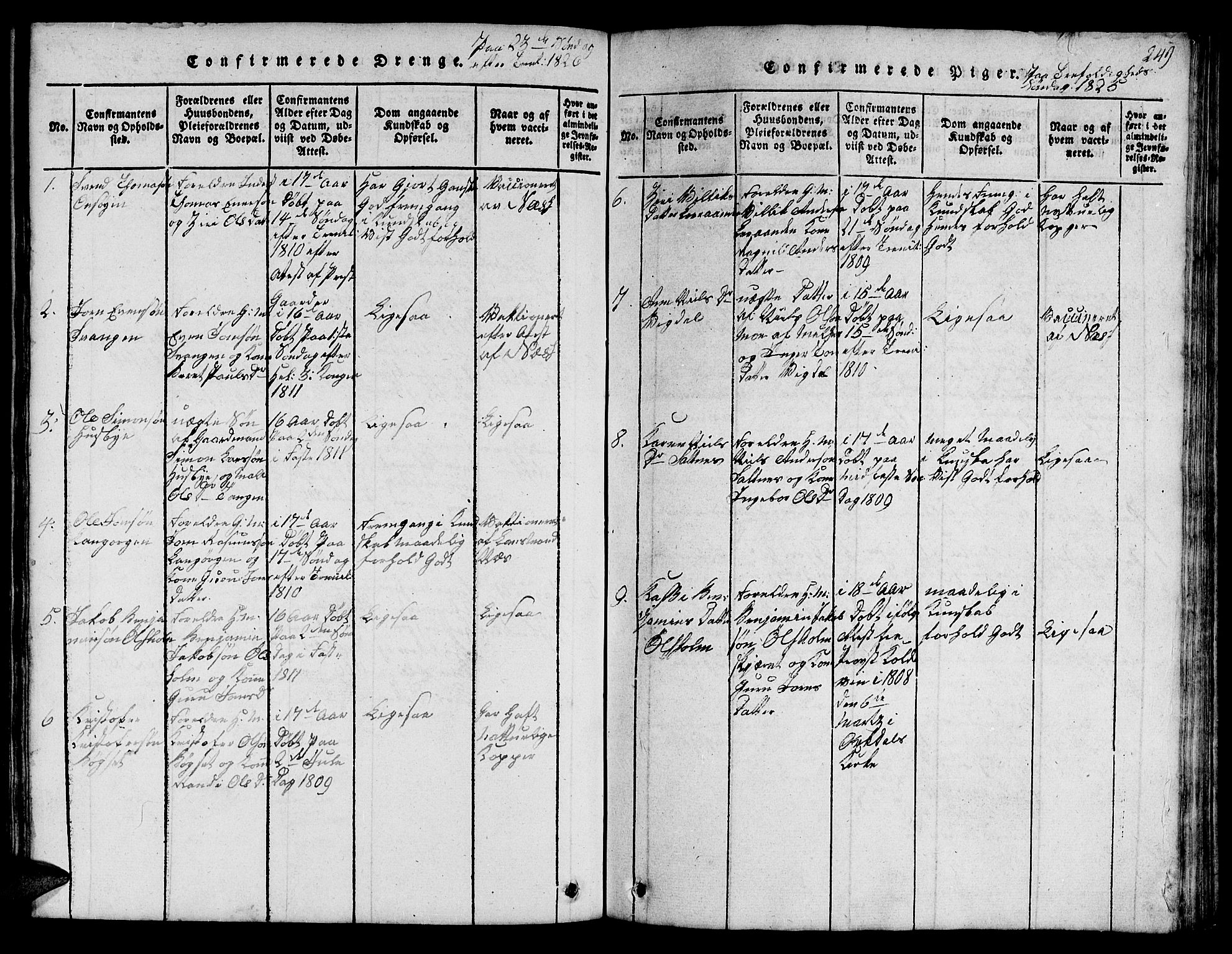 SAT, Ministerialprotokoller, klokkerbøker og fødselsregistre - Sør-Trøndelag, 666/L0788: Klokkerbok nr. 666C01, 1816-1847, s. 249