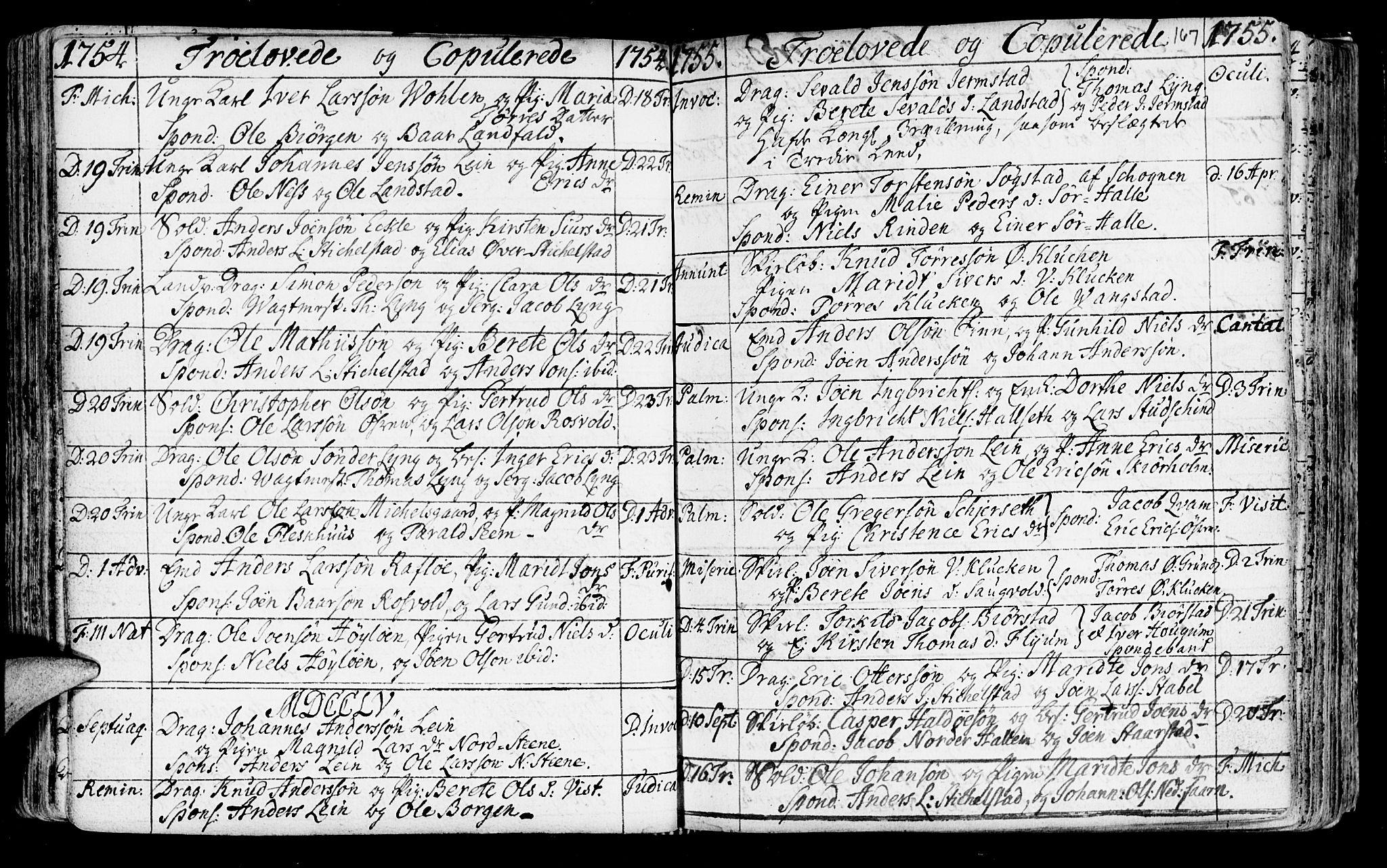 SAT, Ministerialprotokoller, klokkerbøker og fødselsregistre - Nord-Trøndelag, 723/L0231: Ministerialbok nr. 723A02, 1748-1780, s. 167