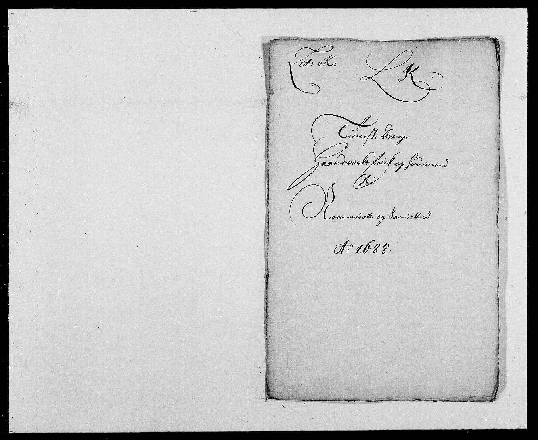 RA, Rentekammeret inntil 1814, Reviderte regnskaper, Fogderegnskap, R24/L1573: Fogderegnskap Numedal og Sandsvær, 1687-1691, s. 320