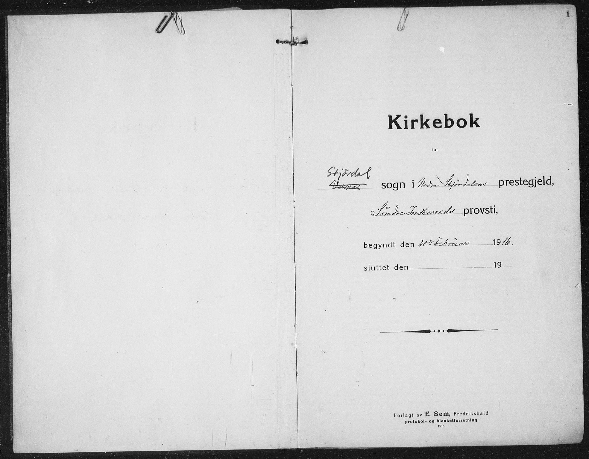 SAT, Ministerialprotokoller, klokkerbøker og fødselsregistre - Nord-Trøndelag, 709/L0083: Ministerialbok nr. 709A23, 1916-1928, s. 1