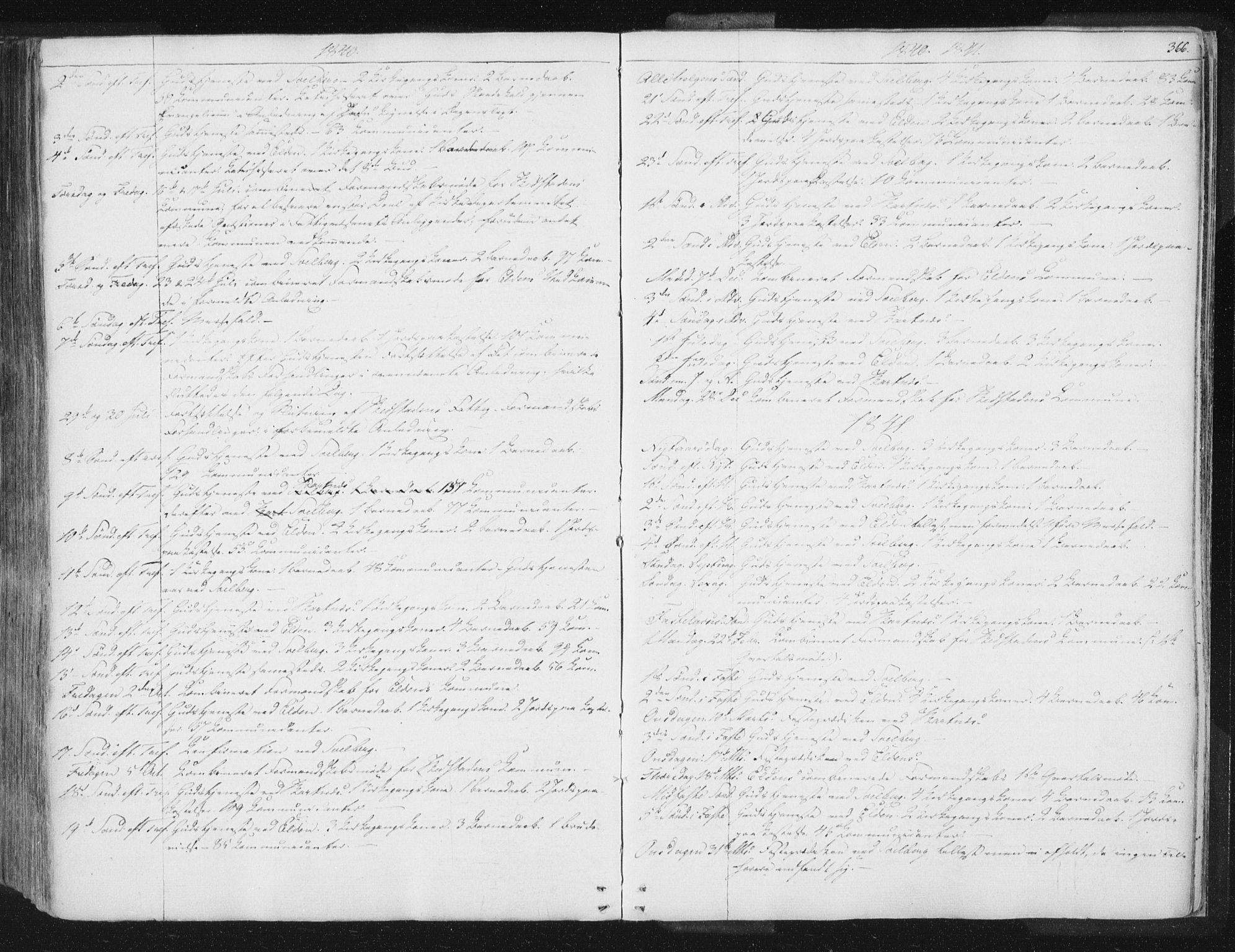 SAT, Ministerialprotokoller, klokkerbøker og fødselsregistre - Nord-Trøndelag, 741/L0392: Ministerialbok nr. 741A06, 1836-1848, s. 366