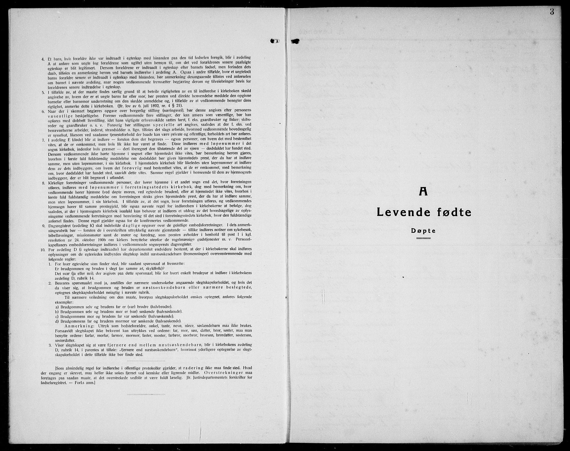 SAB, Førde Sokneprestembete, H/Hab: Klokkerbok nr. A 4, 1924-1941, s. 3