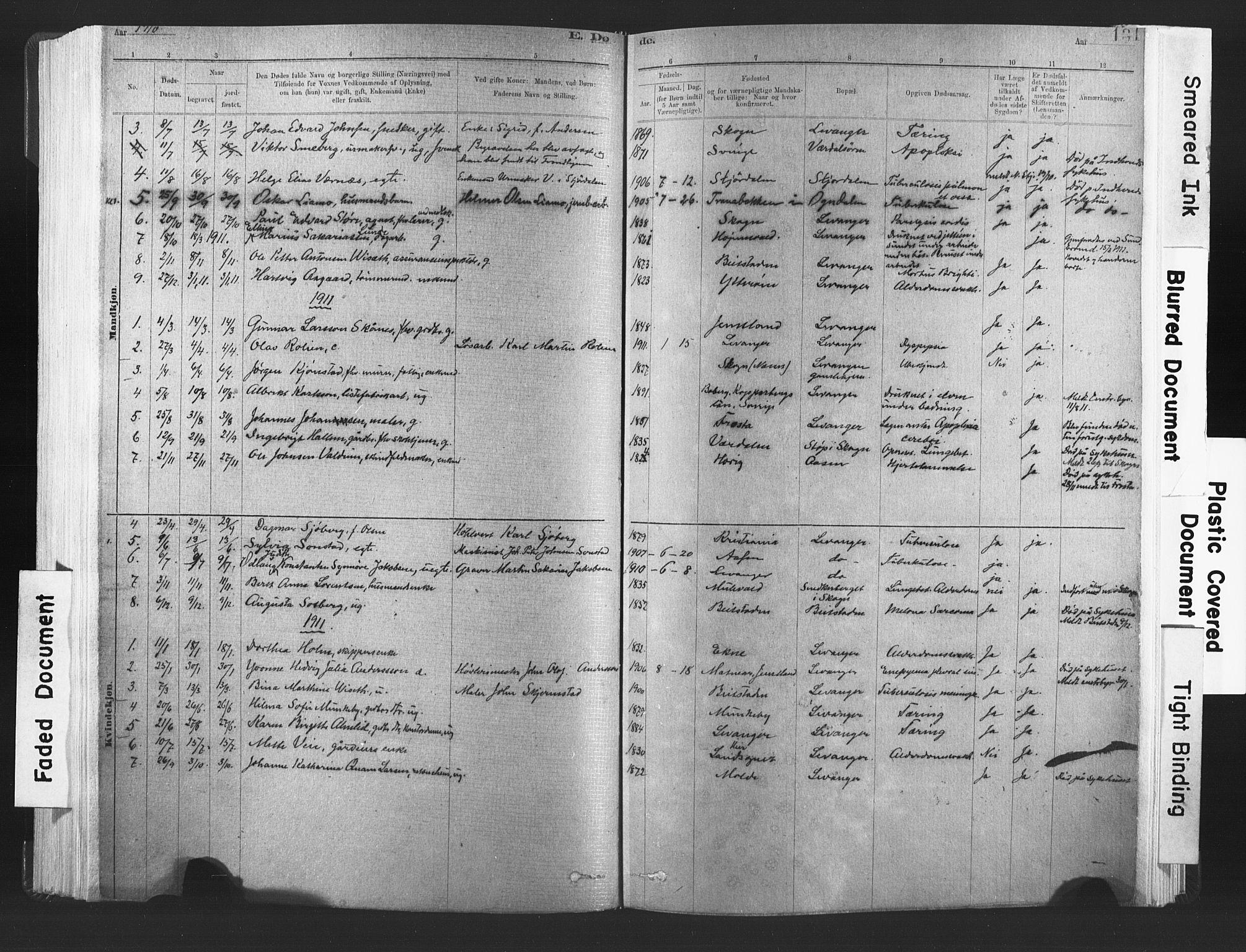 SAT, Ministerialprotokoller, klokkerbøker og fødselsregistre - Nord-Trøndelag, 720/L0189: Ministerialbok nr. 720A05, 1880-1911, s. 131