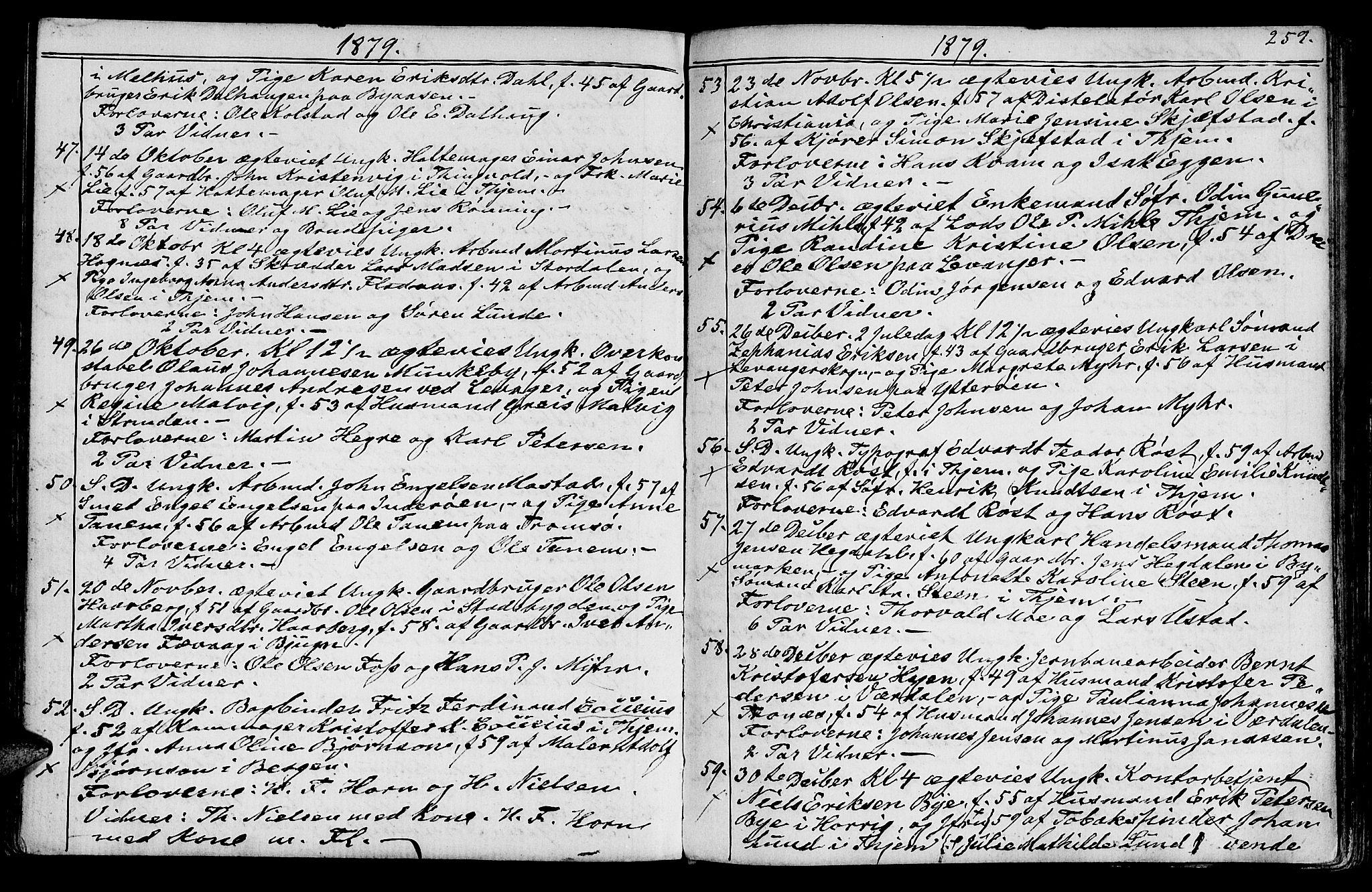 SAT, Ministerialprotokoller, klokkerbøker og fødselsregistre - Sør-Trøndelag, 602/L0142: Klokkerbok nr. 602C10, 1872-1894, s. 259b